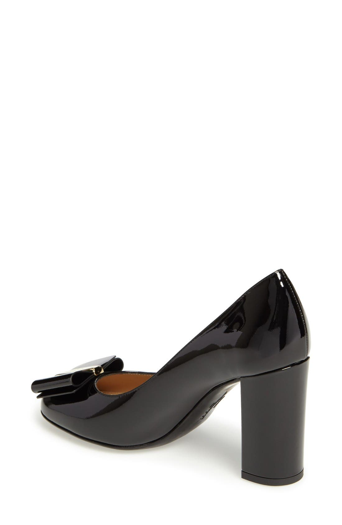 Alternate Image 2  - Salvatore Ferragamo Block Heel Bow Pump (Women)