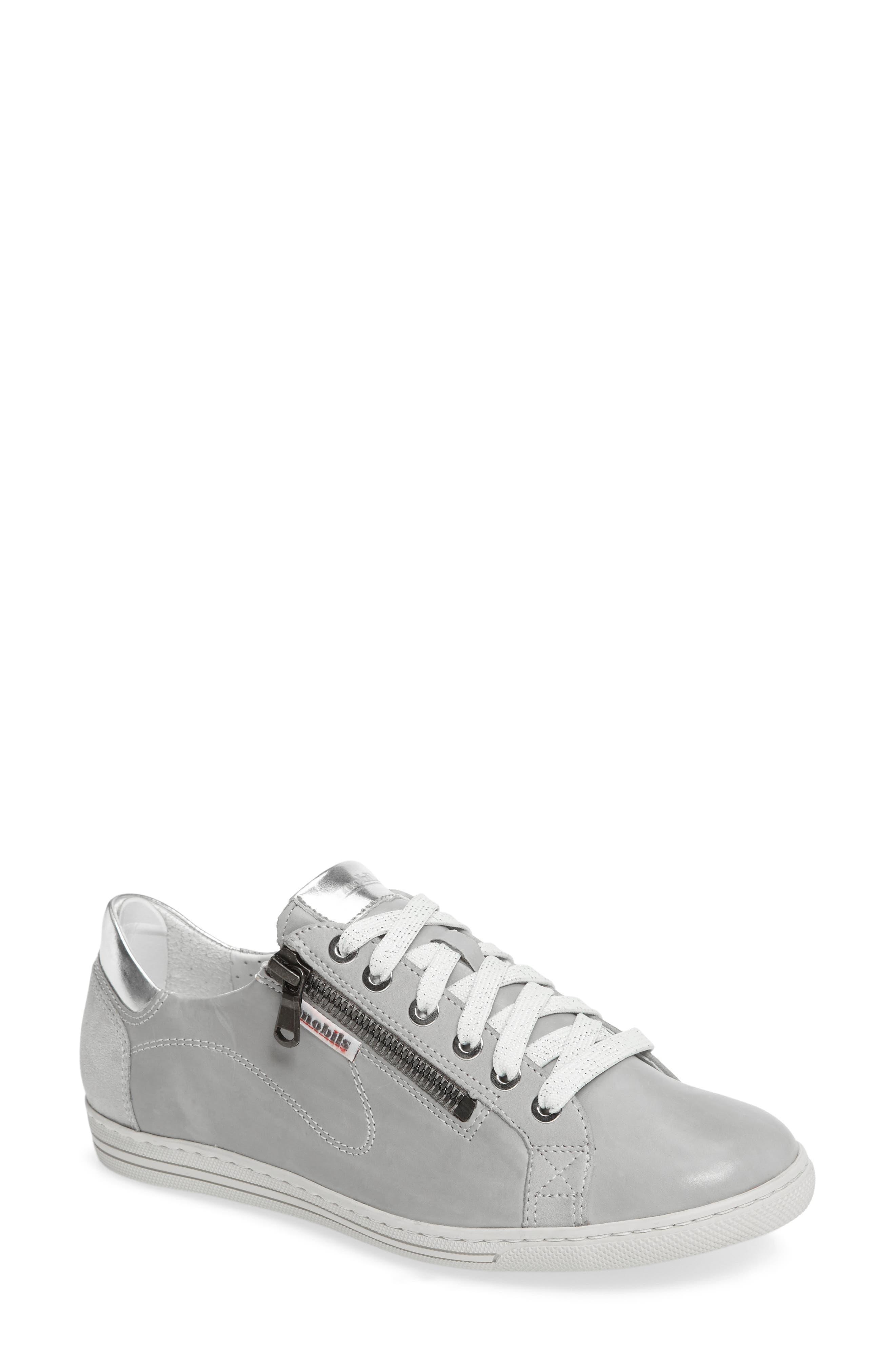 Hawai Sneaker,                             Main thumbnail 1, color,                             Light Grey Calfskin Leather