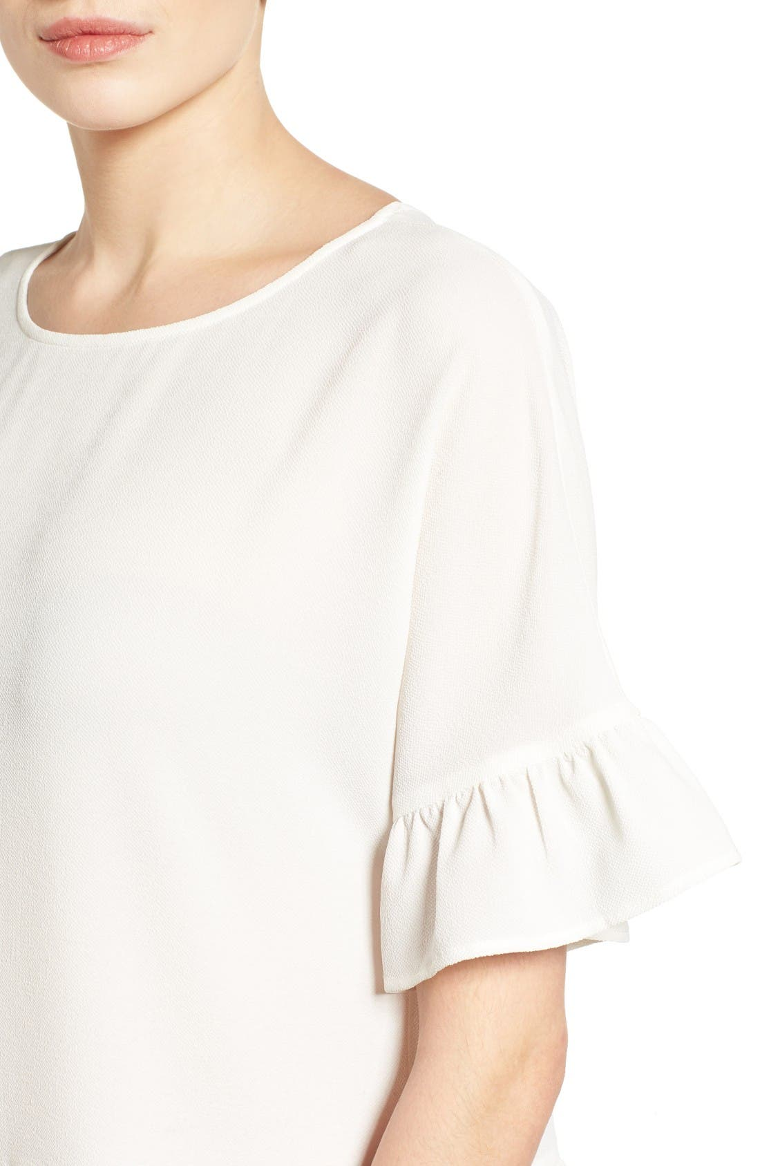 Alternate Image 4  - Gibson Ruffle Hem Top (Regular & Petite)