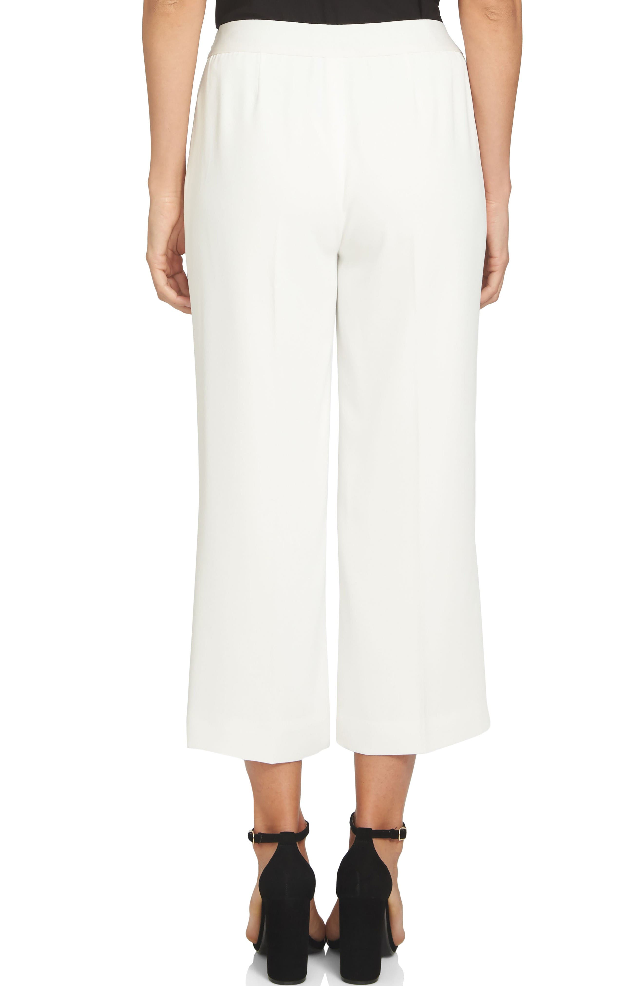 Moss Crepe Crop Trousers,                             Alternate thumbnail 2, color,                             New Ivory
