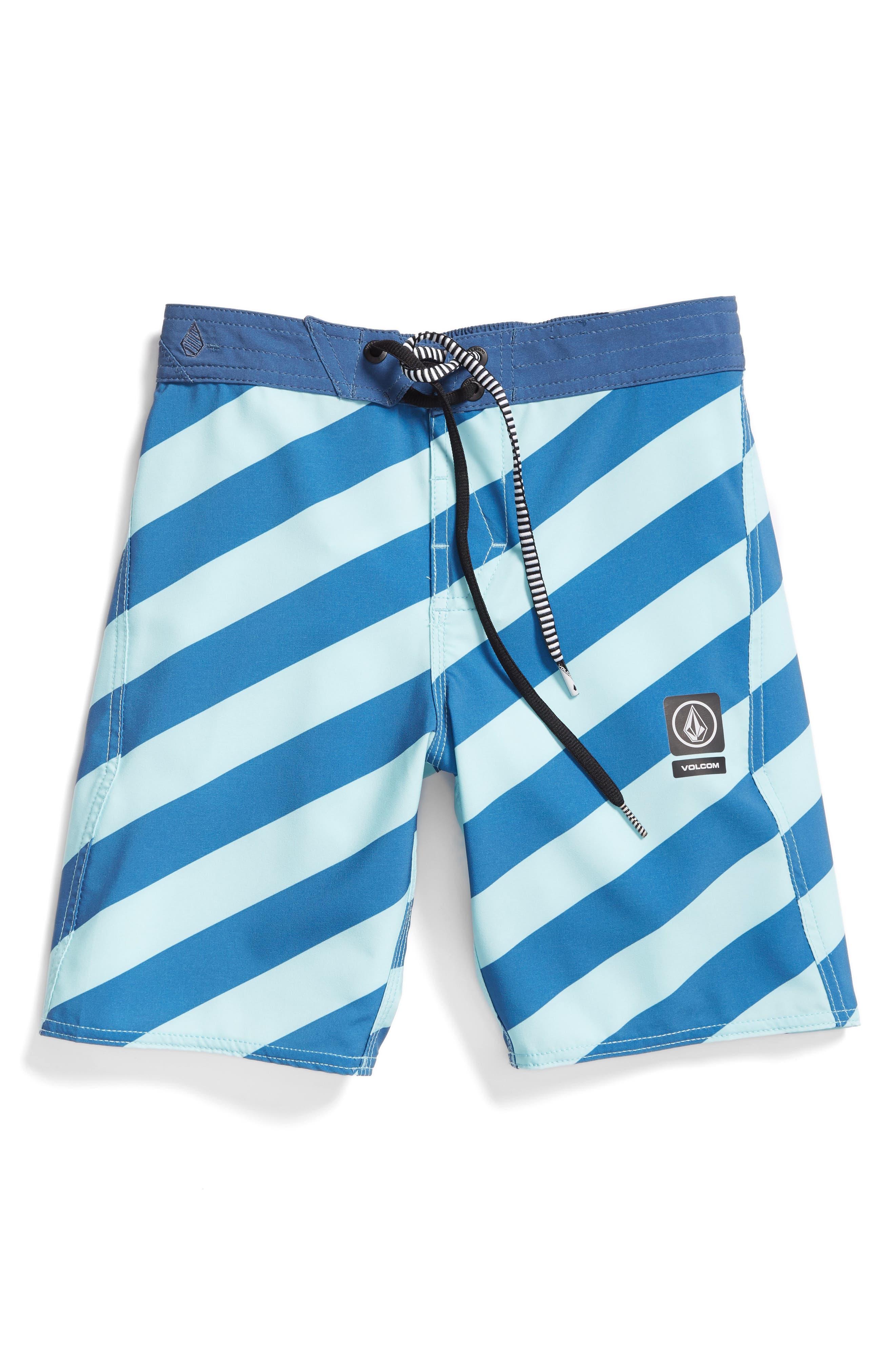 Stripey Jammer Board Shorts,                             Main thumbnail 1, color,                             Deep Water