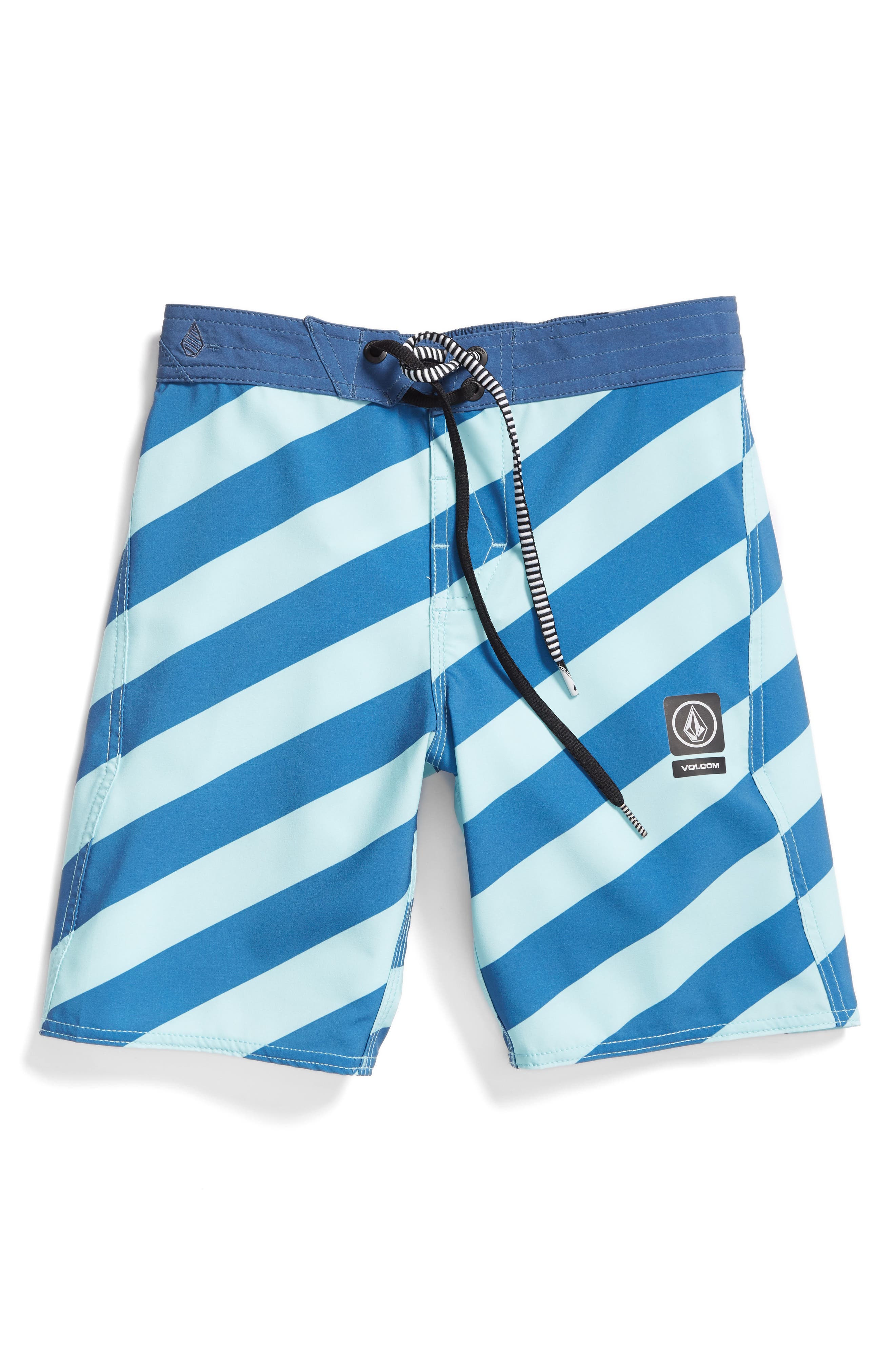Stripey Jammer Board Shorts,                         Main,                         color, Deep Water