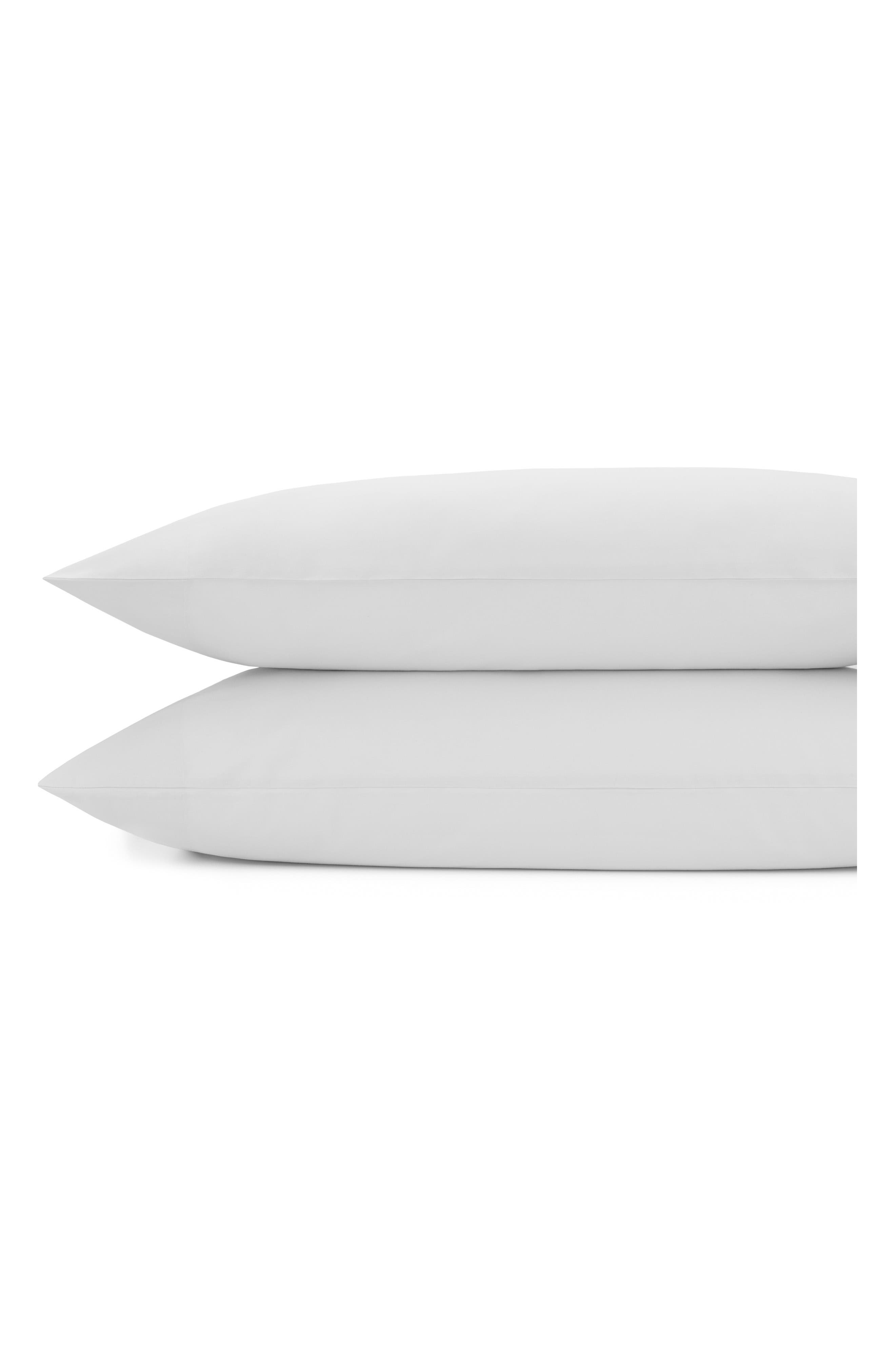 Downtime Percale Pillowcases,                         Main,                         color, Stone
