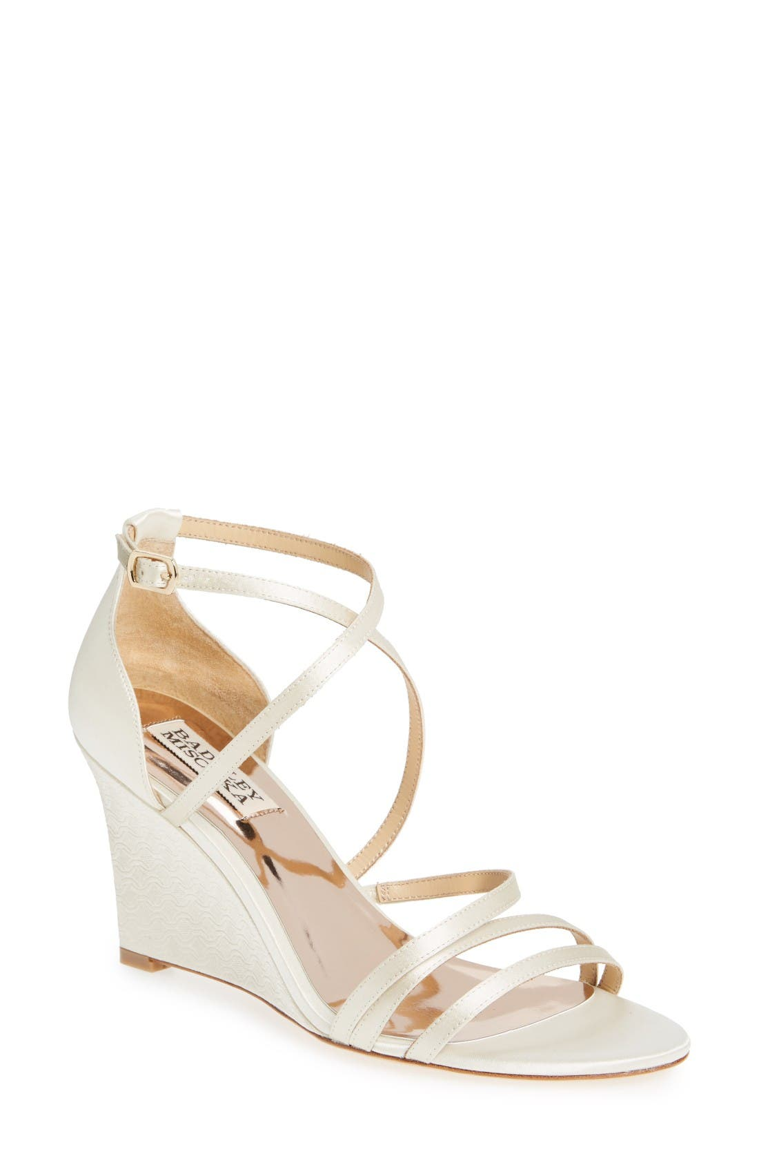 Main Image - Badgley Mischka Bonanza Strappy Wedge Sandal (Women)