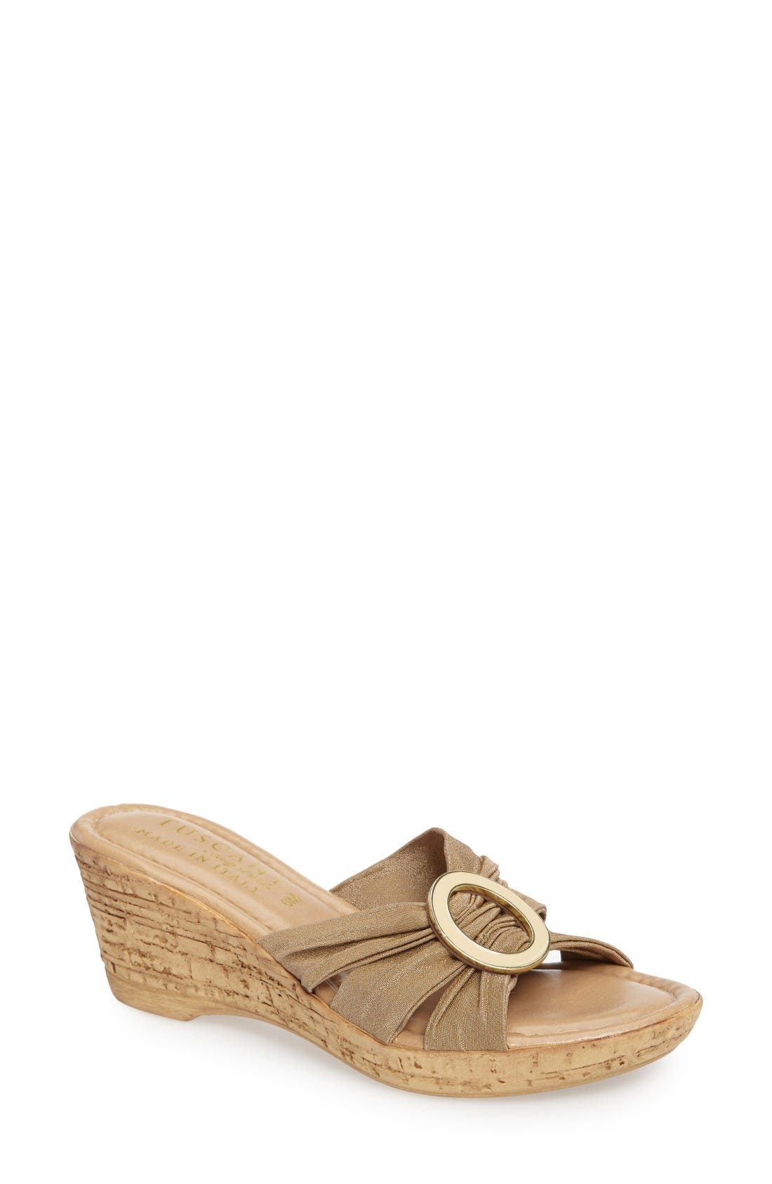 TUSCANY by Easy Street® Conca Wedge Slide (Women)