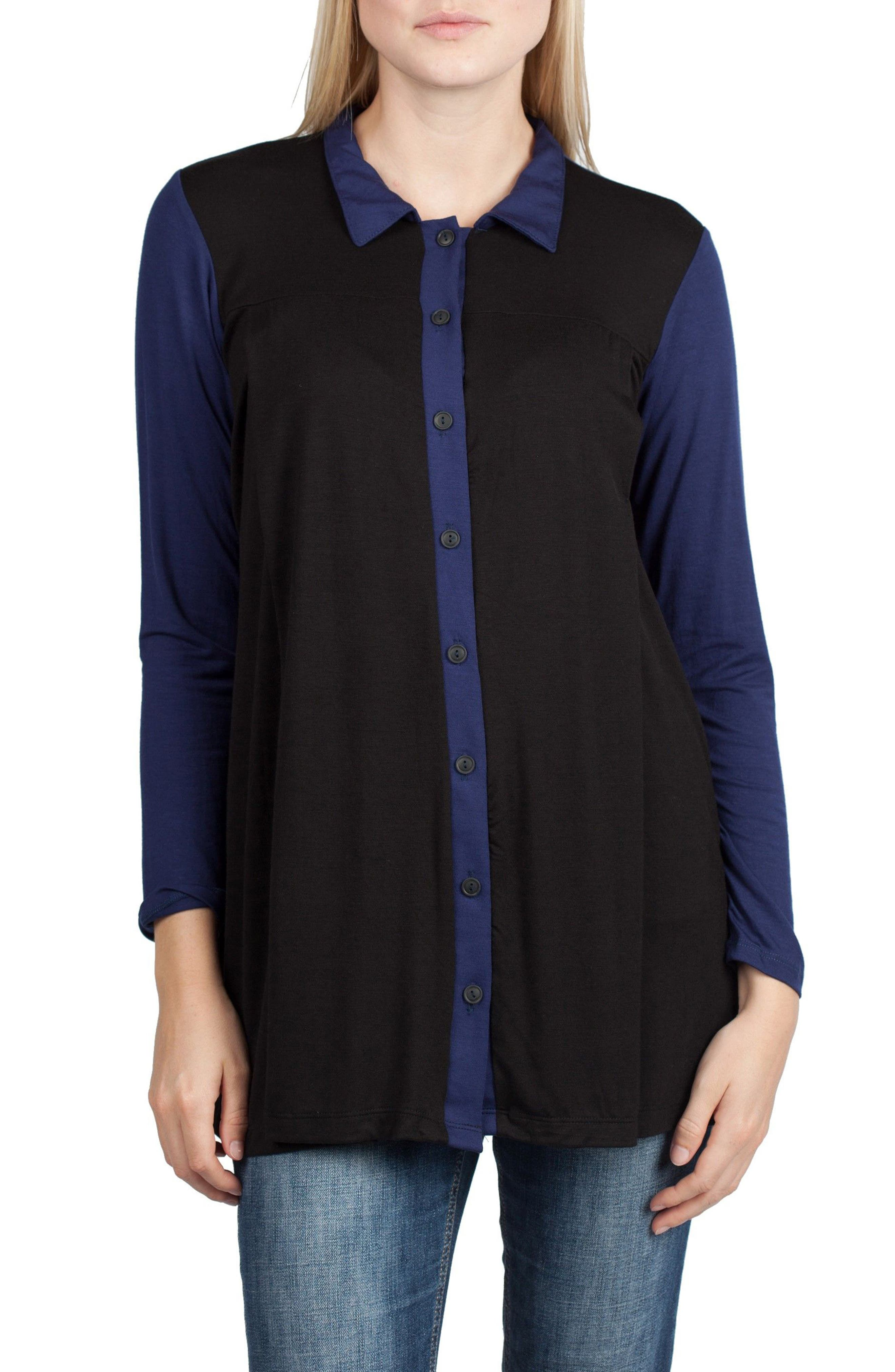 Alternate Image 1 Selected - Savi Mom Berlin Maternity/Nursing Tunic Top