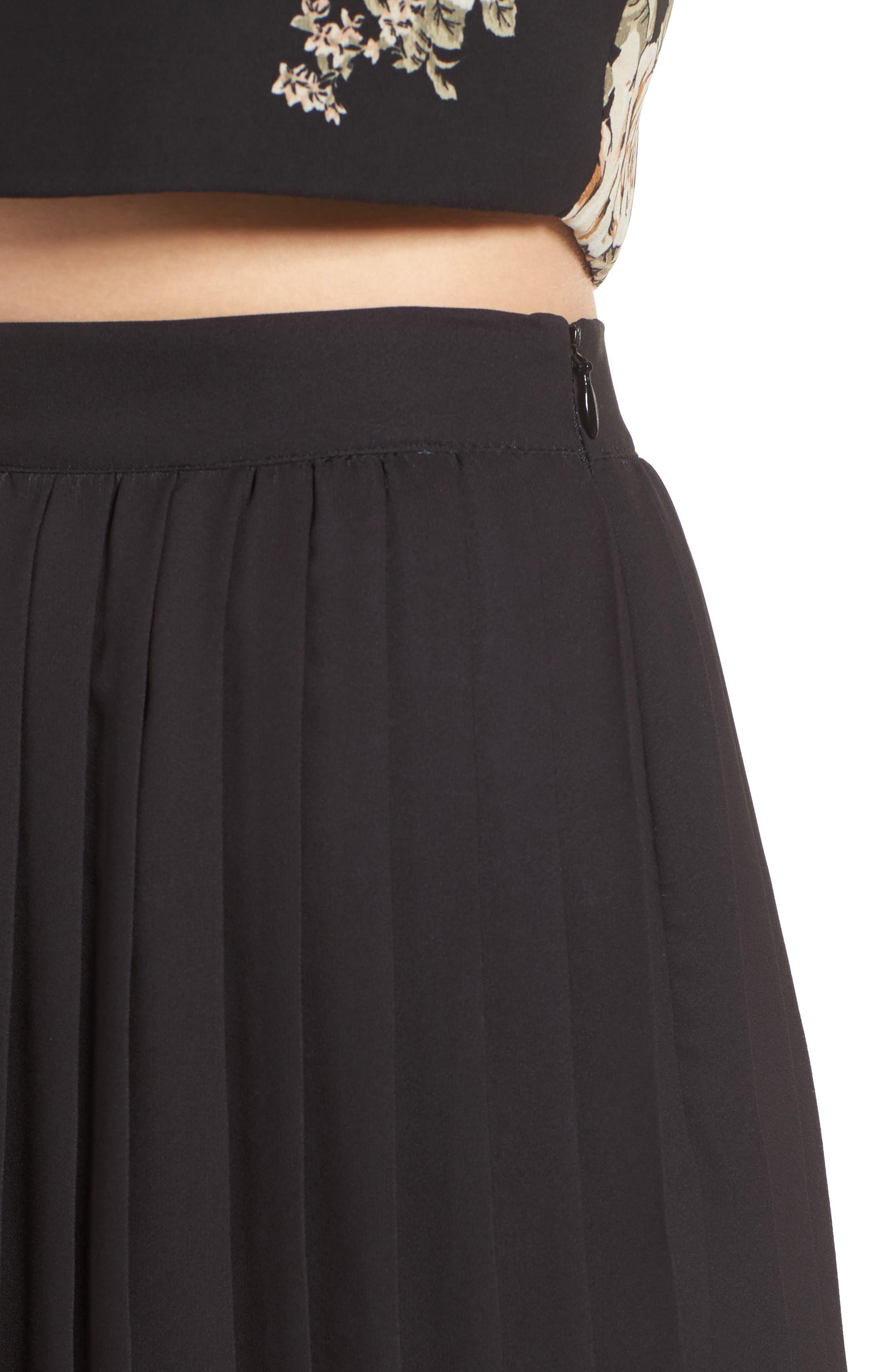 Alternate Image 5  - June & Hudson Pleated Skirt