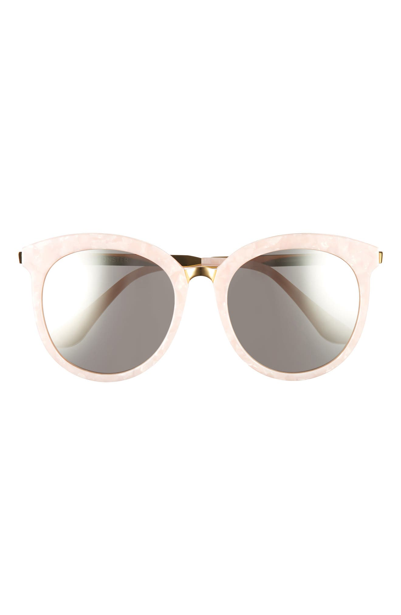 Lovesome 56mm Cat Eye Sunglasses,                             Main thumbnail 1, color,                             Light Pink/Gold