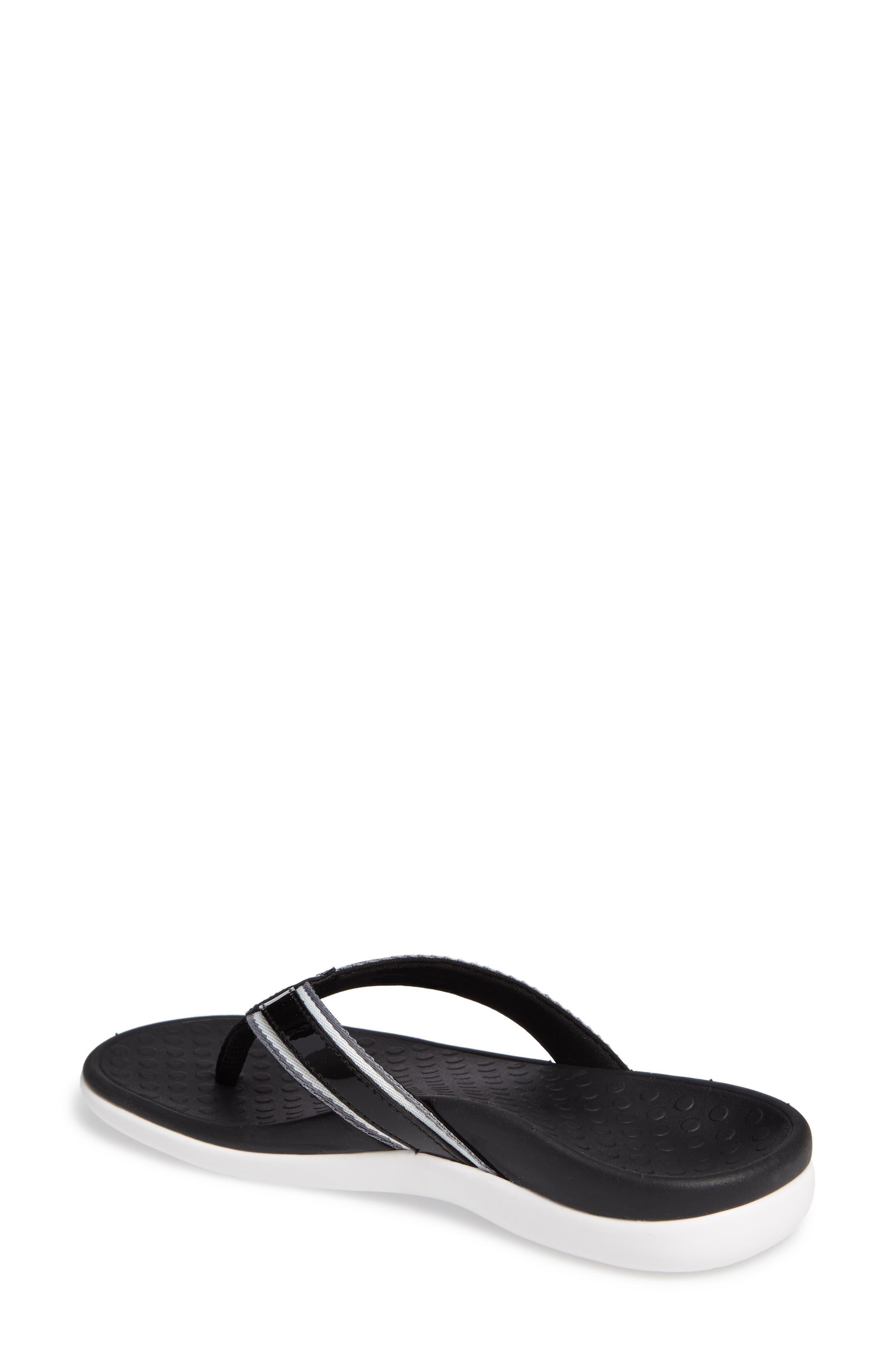 Tide Sport Flip Flop,                             Alternate thumbnail 2, color,                             Black Leather