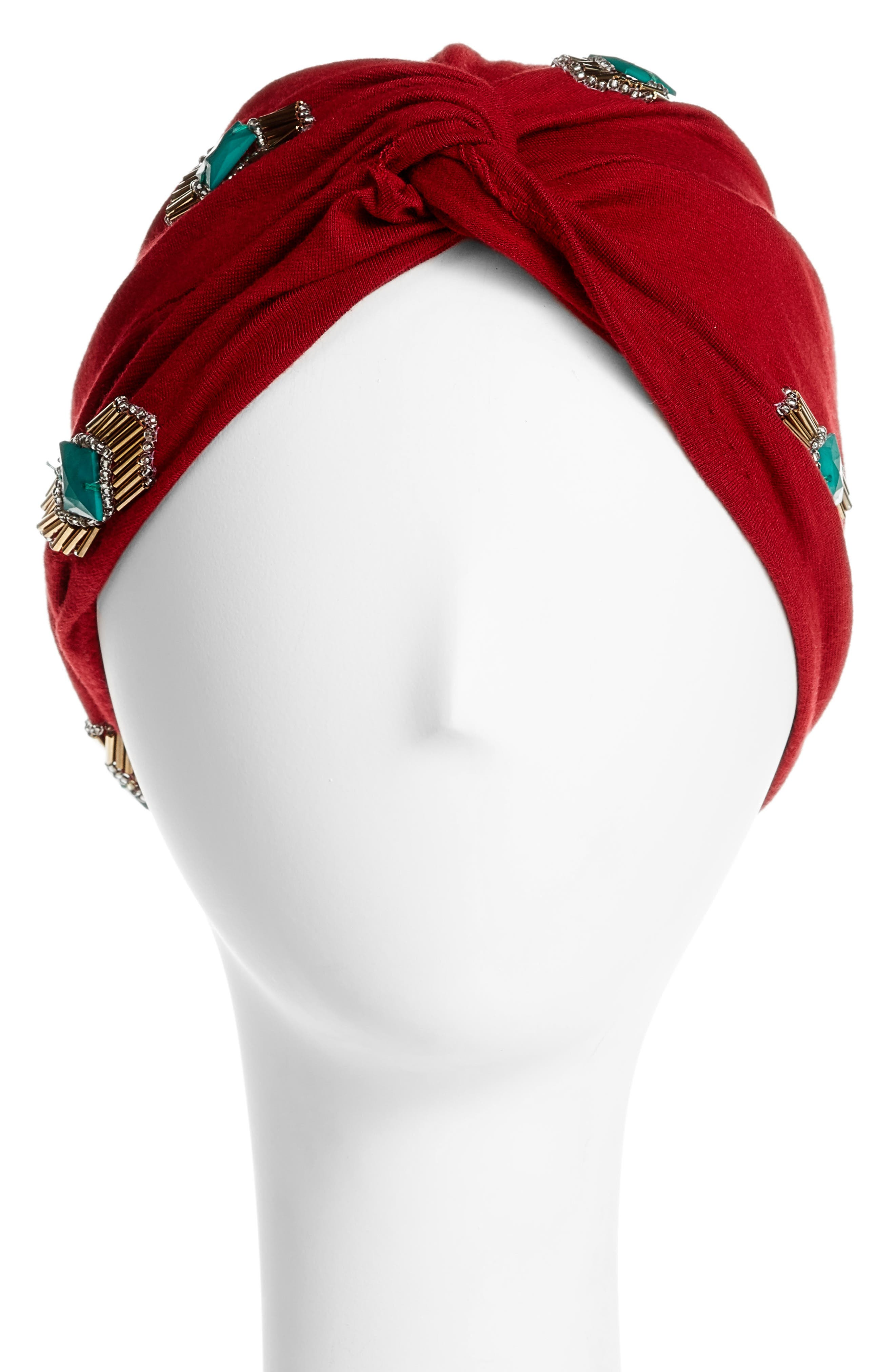 Alternate Image 1 Selected - Berry Crystal Turban