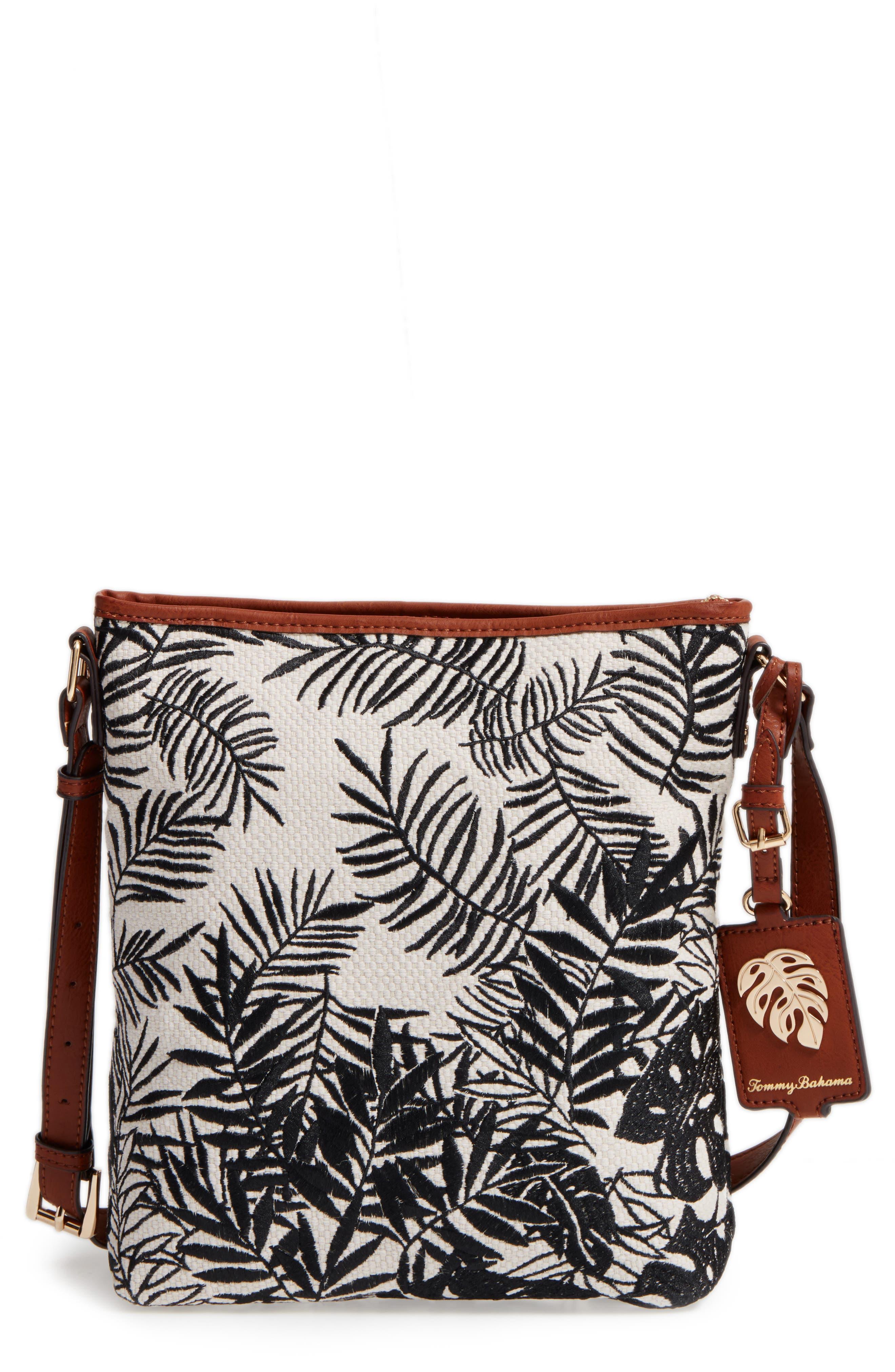Palm Beach Crossbody Bag,                         Main,                         color, Black/ Cream