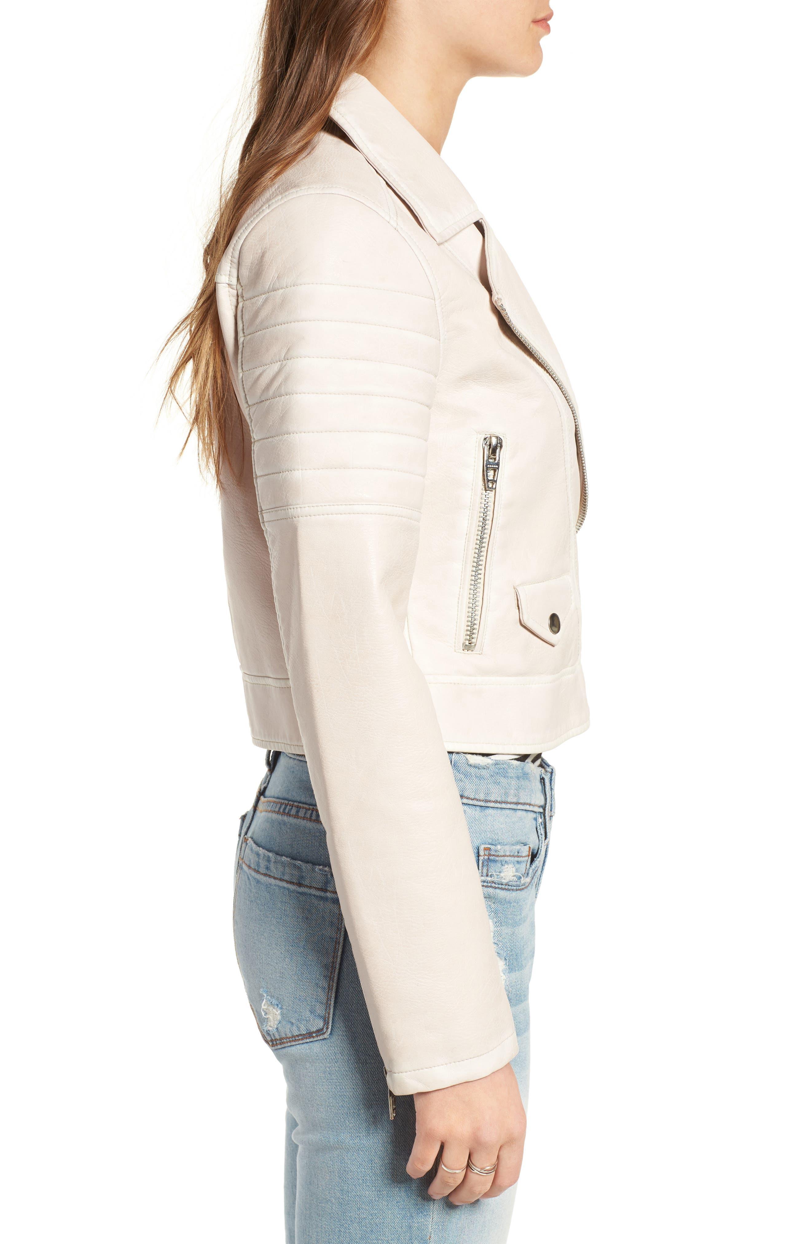 Alternate Image 3  - BLANKNYC Faux Leather Moto Jacket