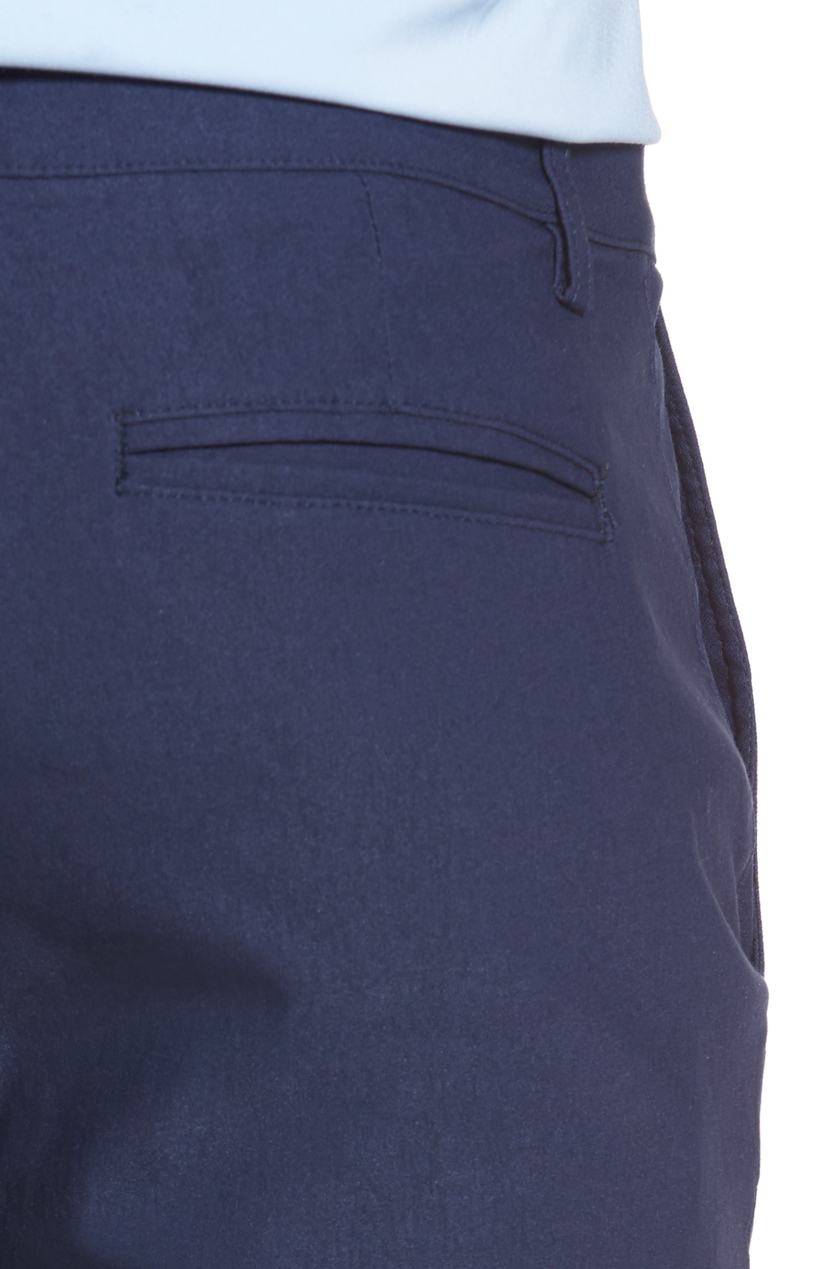 President Trim Fit Performance Chinos,                             Alternate thumbnail 4, color,                             Navy