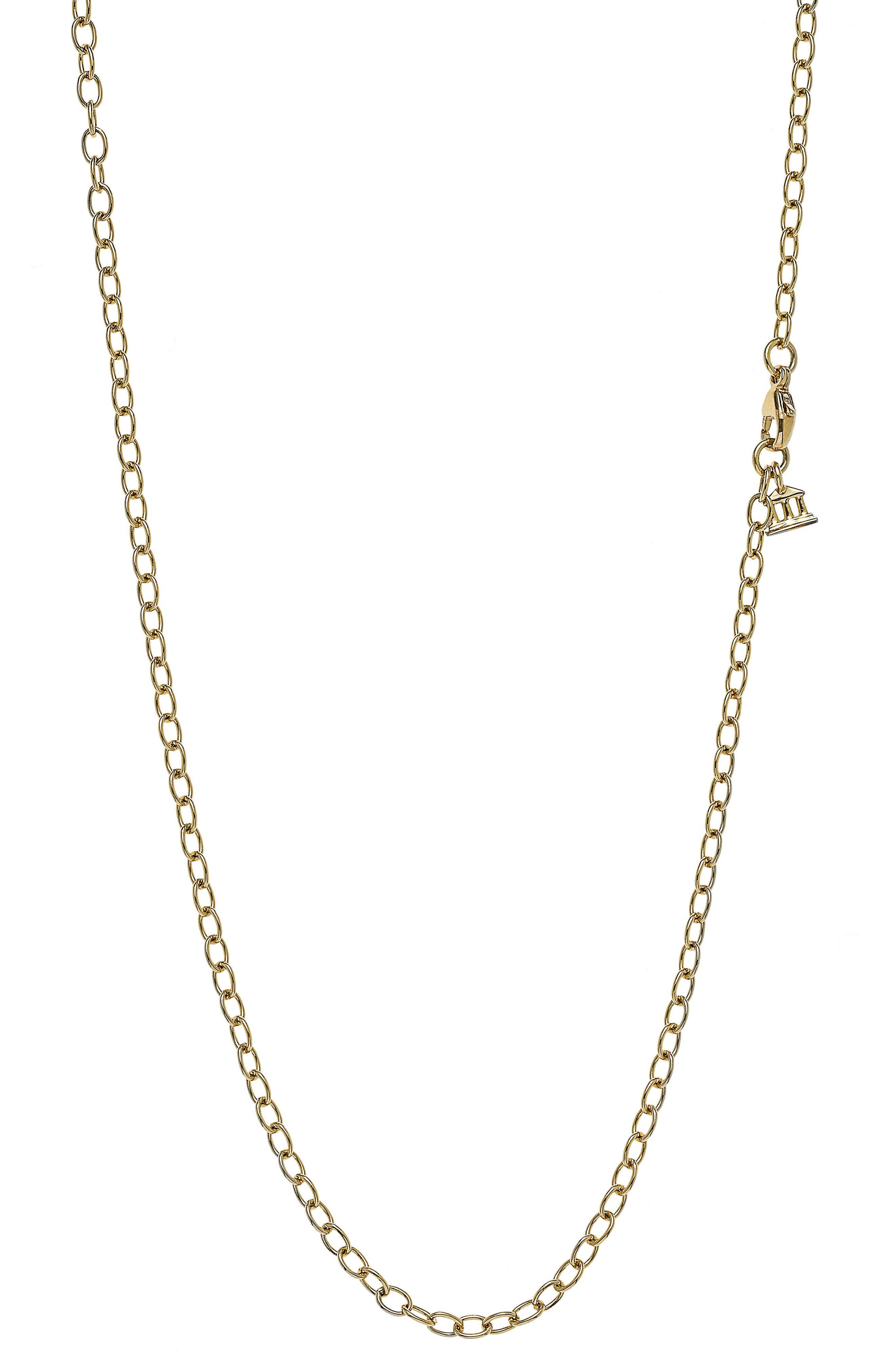 Temple St. Clair Small Chain Necklace,                         Main,                         color, Yellow Gold