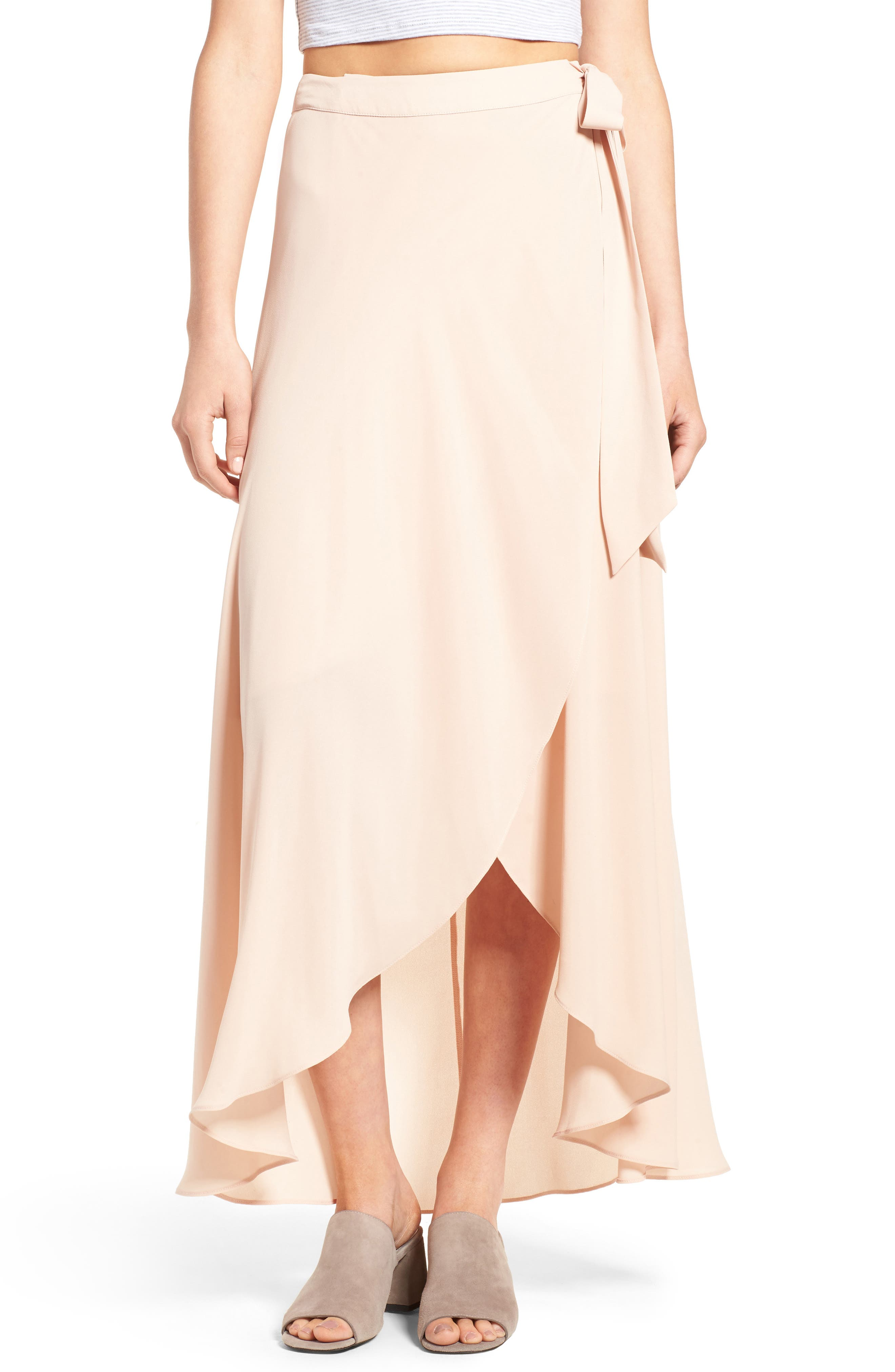Alternate Image 1 Selected - Soprano High/Low Wrap Skirt