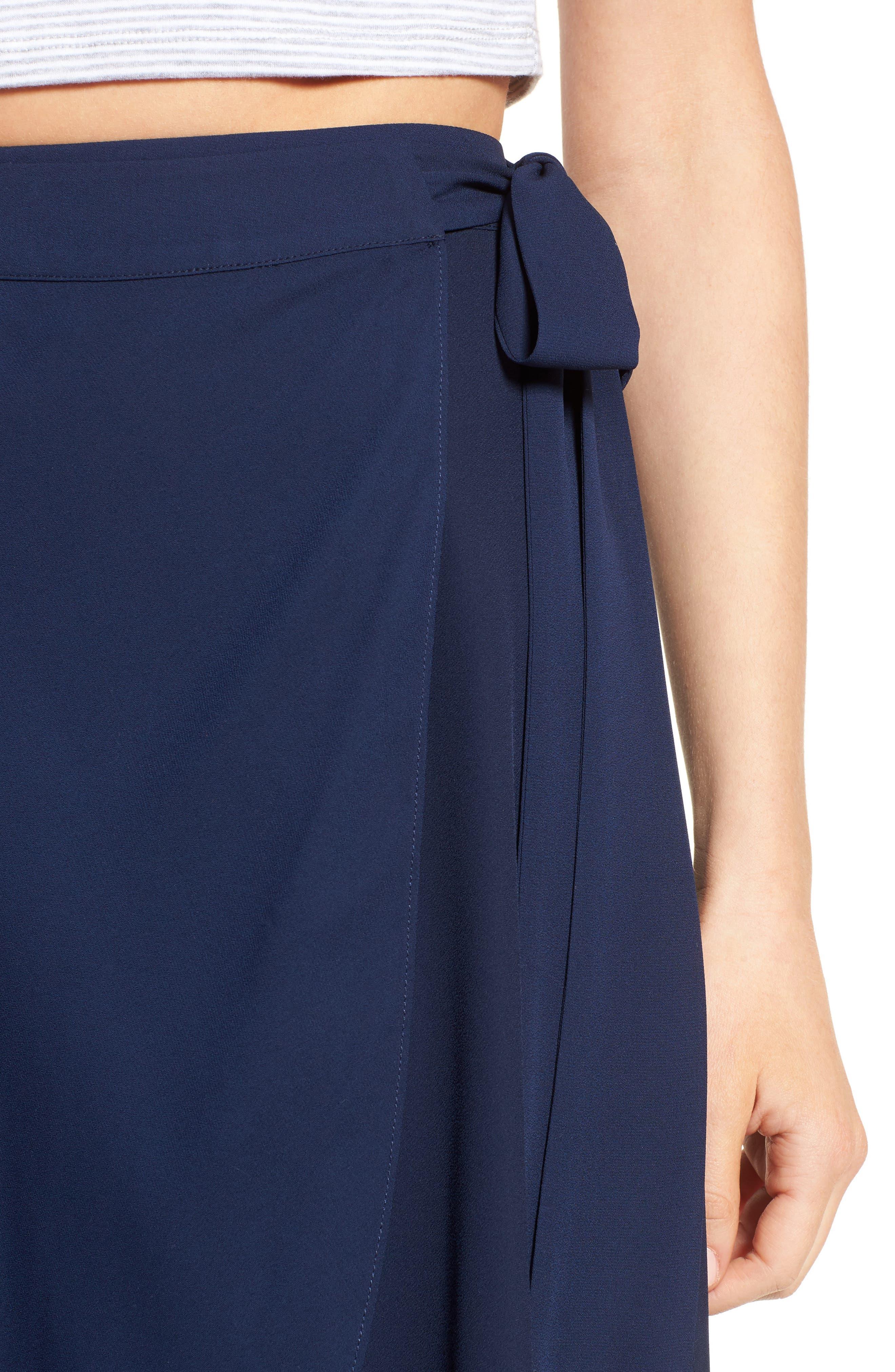 Alternate Image 4  - Soprano High/Low Wrap Skirt