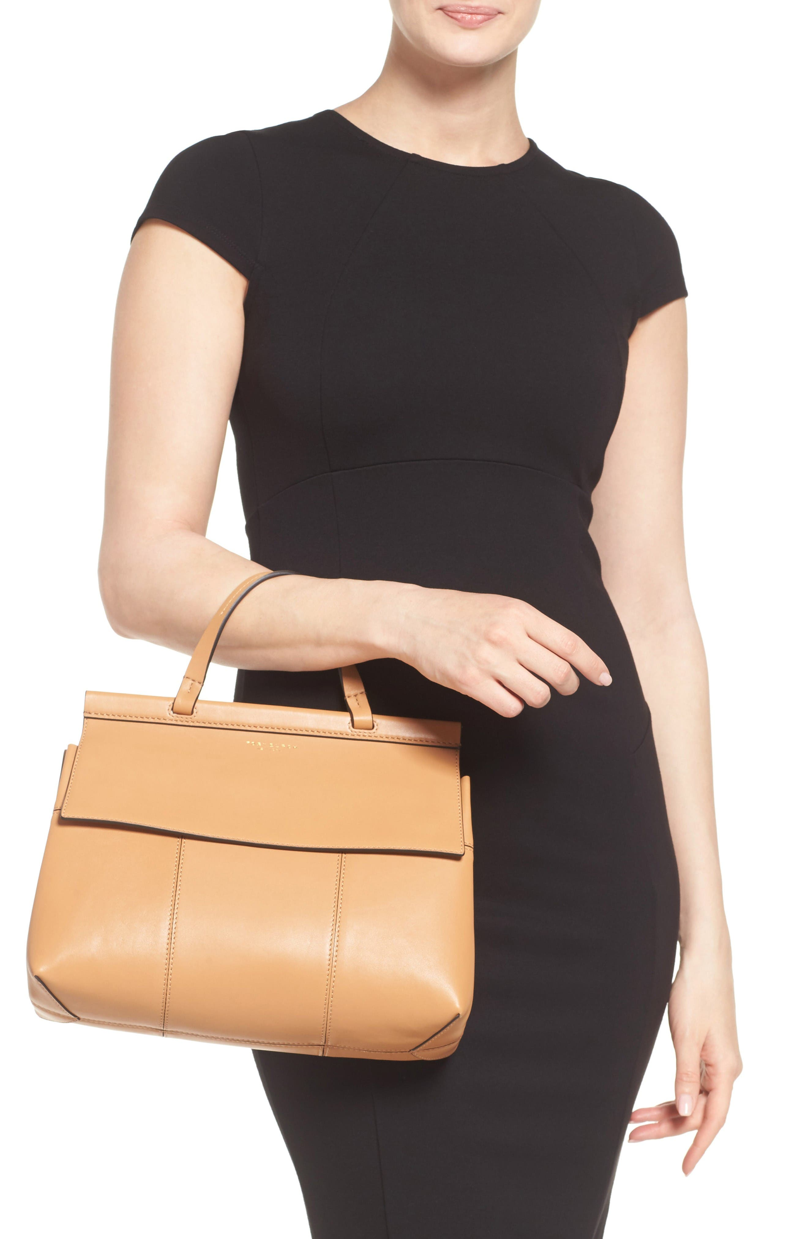 Alternate Image 2  - Tory Burch Block T Leather Top Handle Satchel