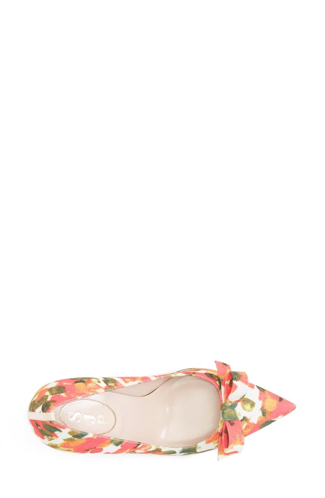 SJP 'Sister' Pointy Toe Pump,                             Alternate thumbnail 3, color,                             Floral Print