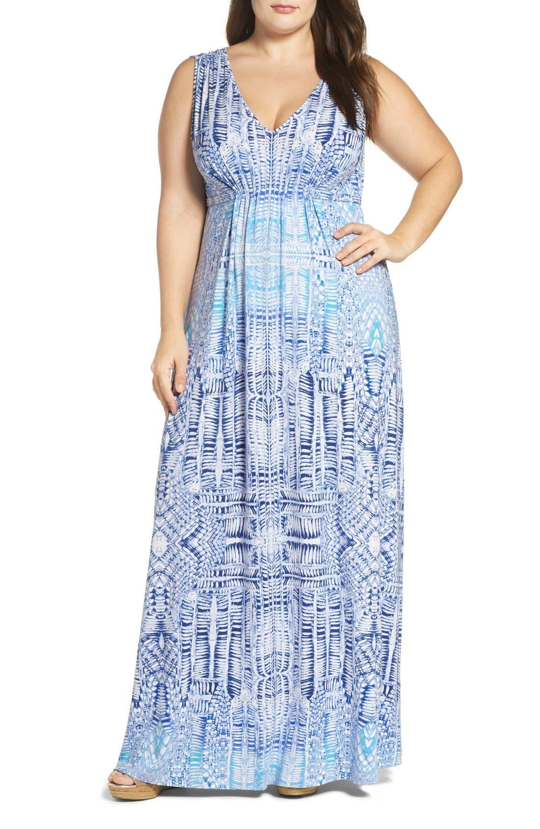 Tart Grecia Sleeveless Jersey Maxi Dress (Plus Size)