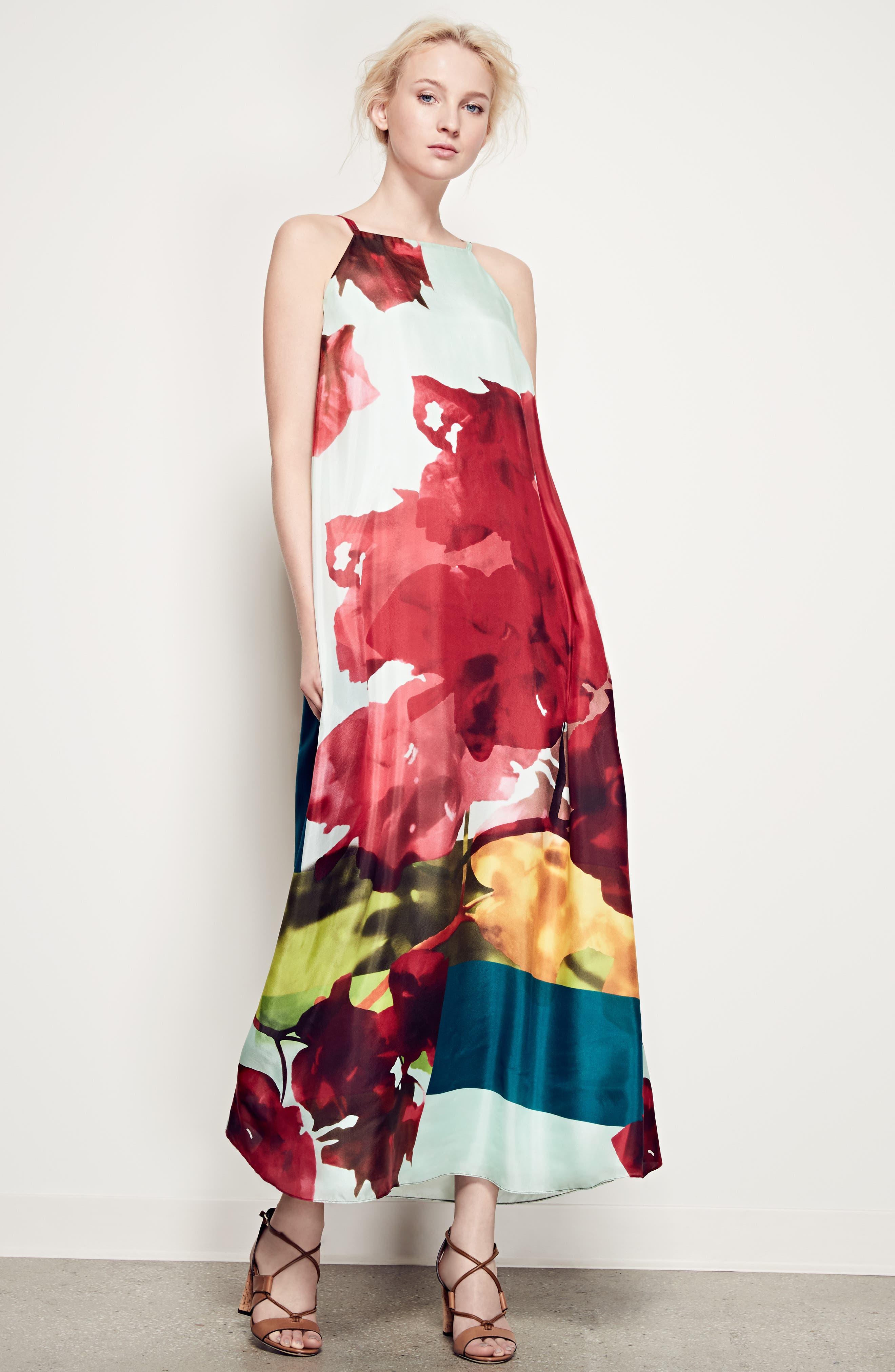 Alternate Image 7  - Lafayette 148 New York Leonissa Print Silk Maxi Dress