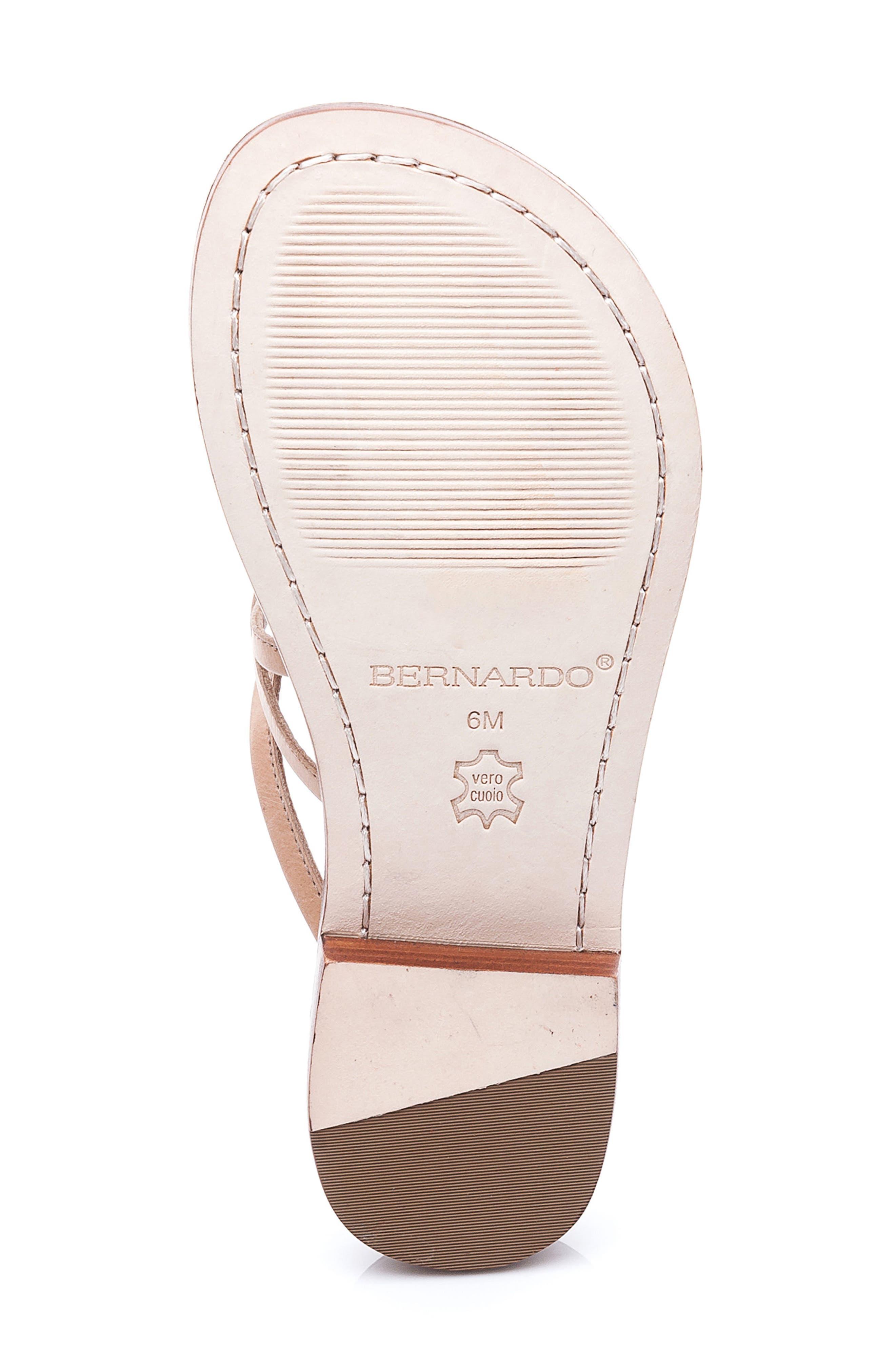 Bernardo Tori Slide Sandal,                             Alternate thumbnail 4, color,                             Light Camel Leather
