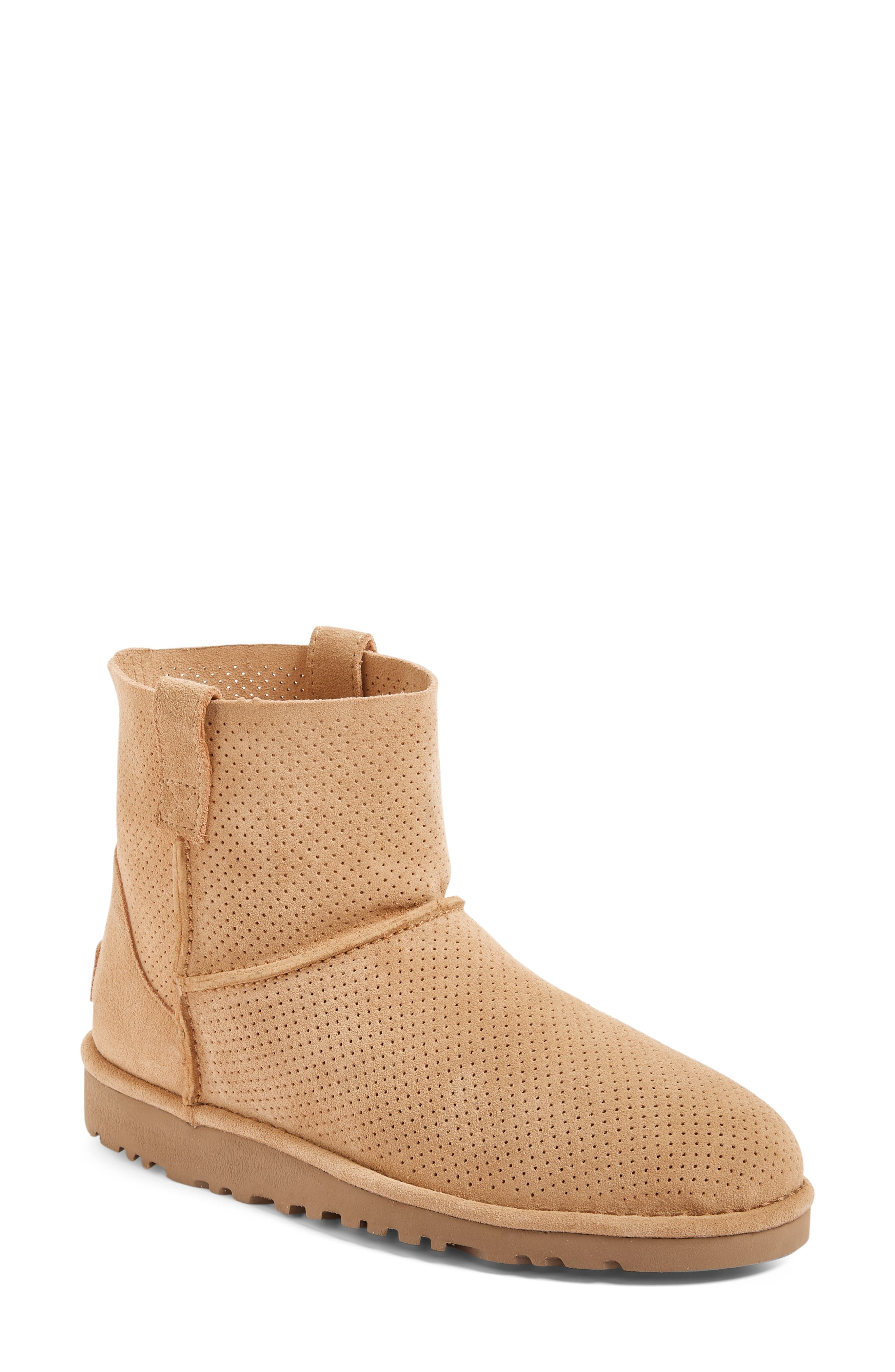 Alternate Image 1 Selected - UGG® Classic Unlined Mini Perf Boot (Women)