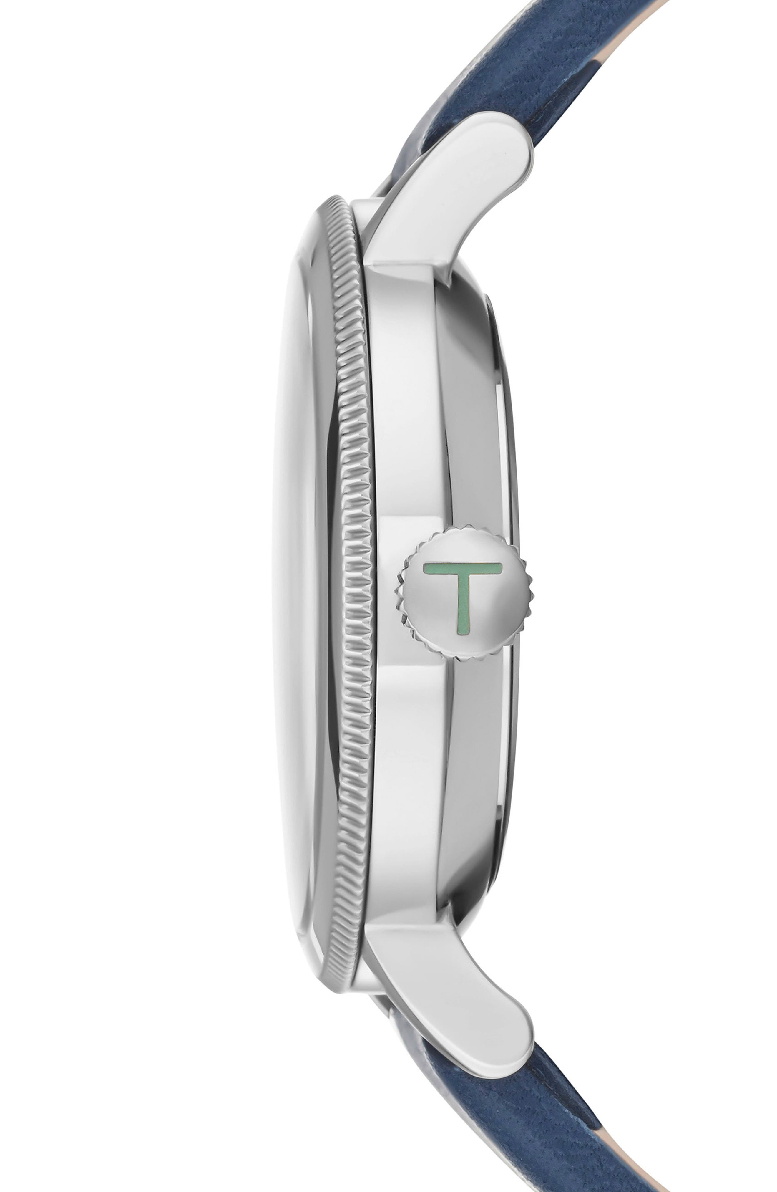 Alternate Image 3  - Ted Baker London Connor Leather Strap Watch, 42mm