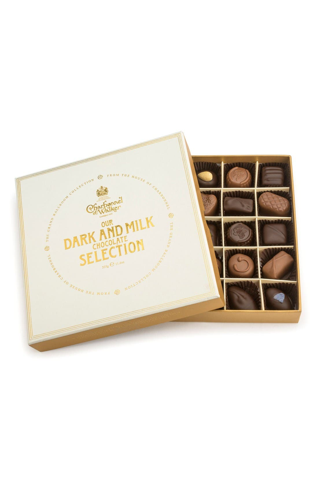 Fine Chocolate Selection in Gift Box,                             Main thumbnail 1, color,                             Milk/ Dark Chocolate