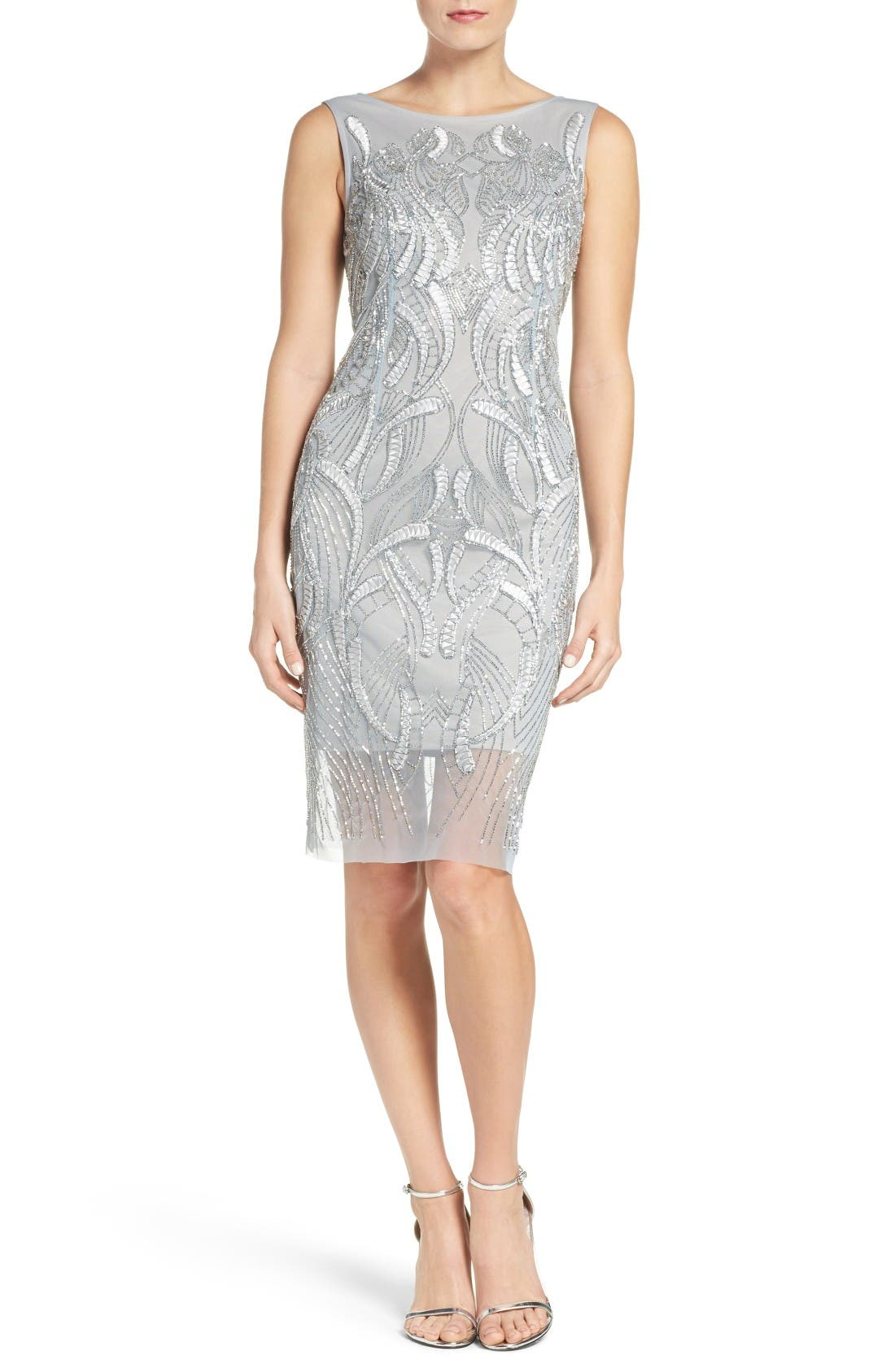 Alternate Image 4  - Adrianna Papell Beaded Sheath Dress