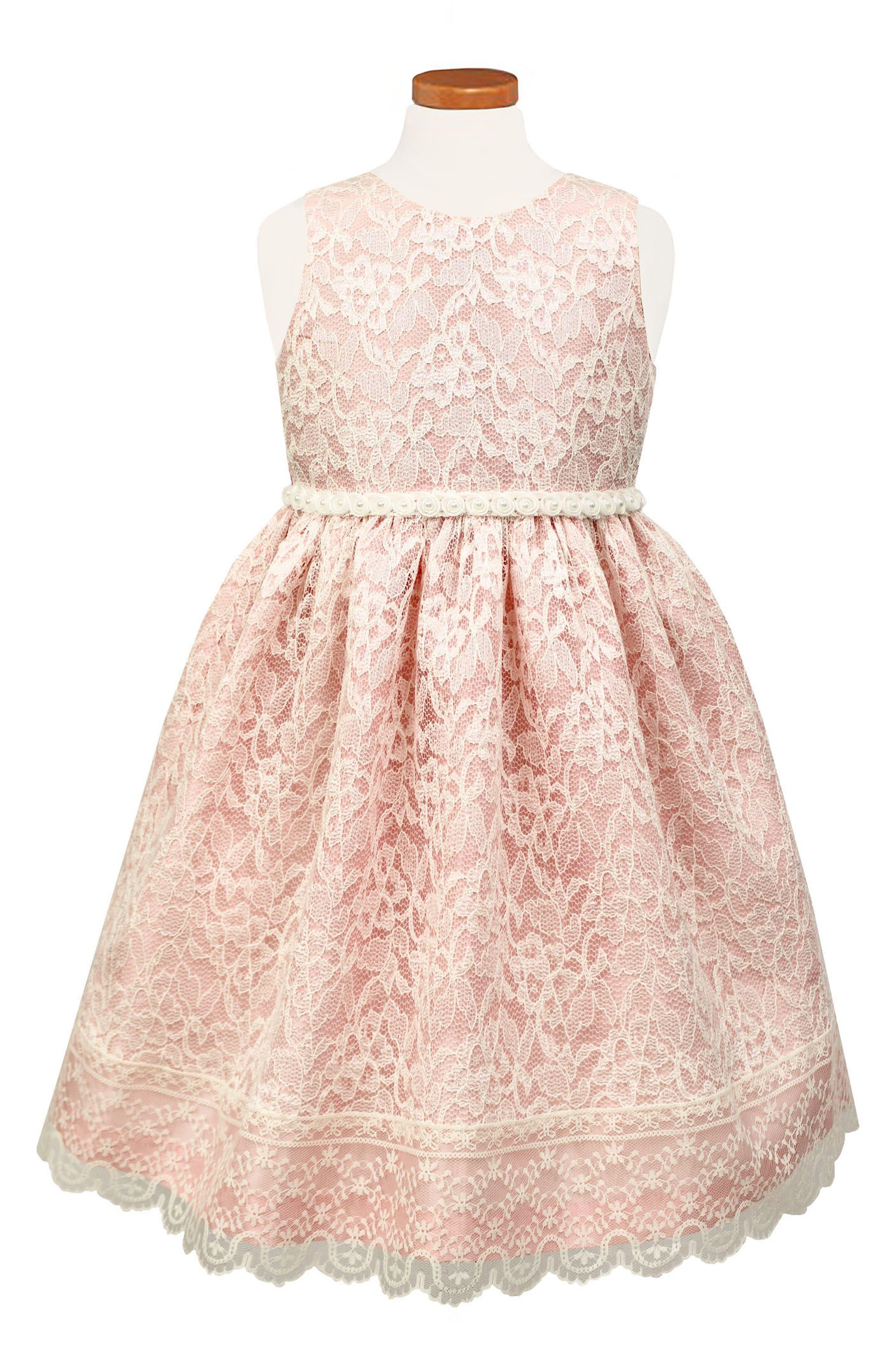 Sorbet Sleeveless Lace Dress (Big Girls)