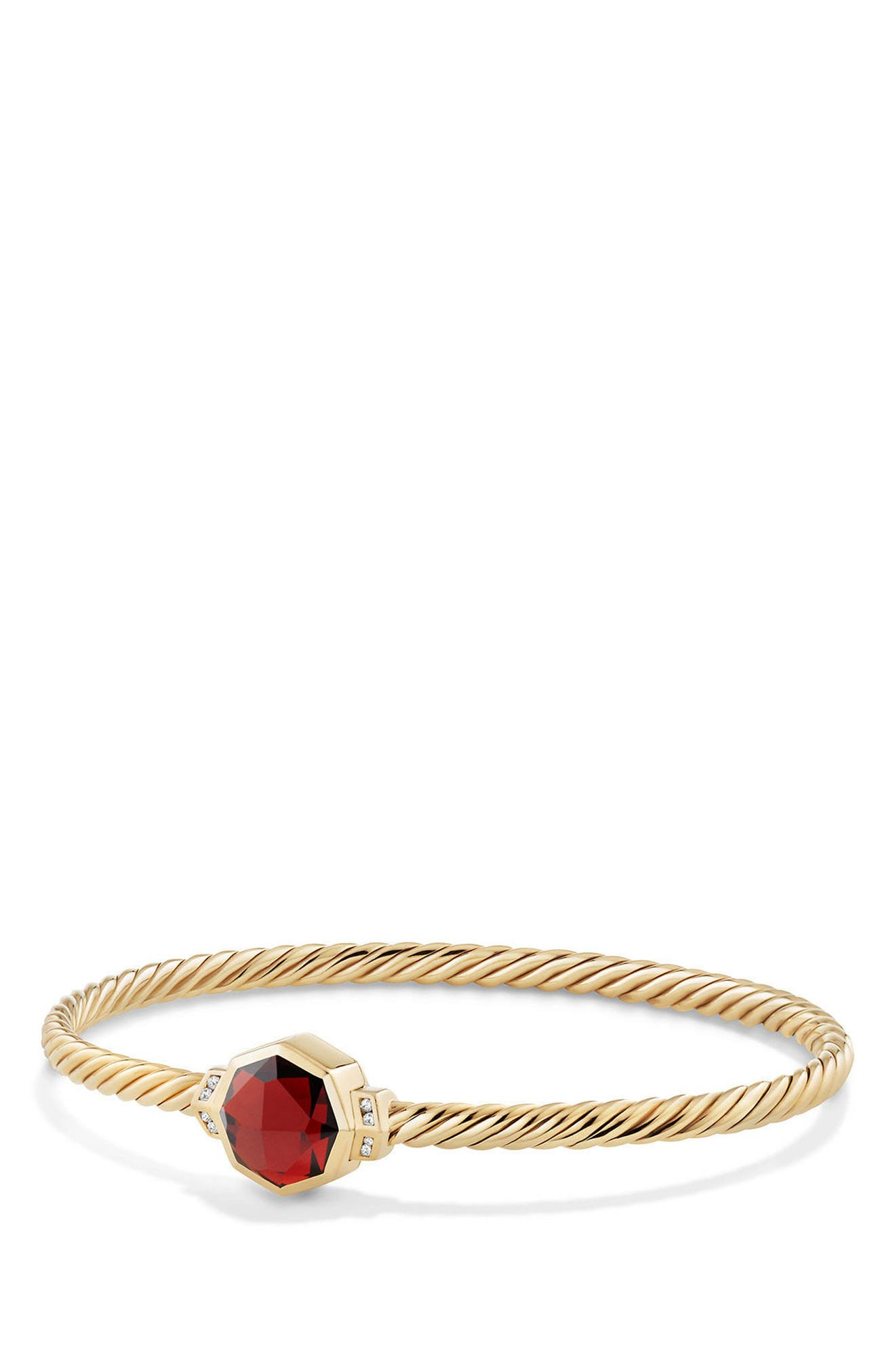 Main Image - David Yurman Guilin Octagon Bracelet with Diamonds in 18K Gold