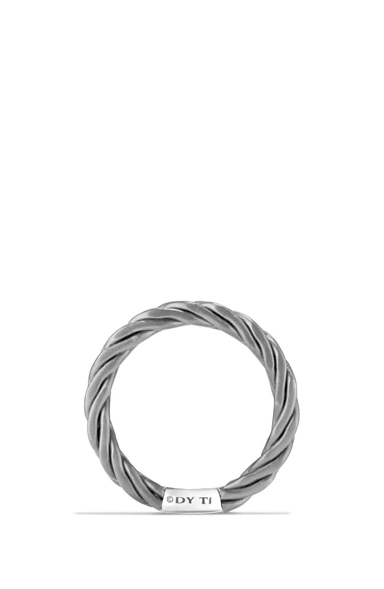 Titanium Band Ring,                             Alternate thumbnail 2, color,                             Grey/ Titanium