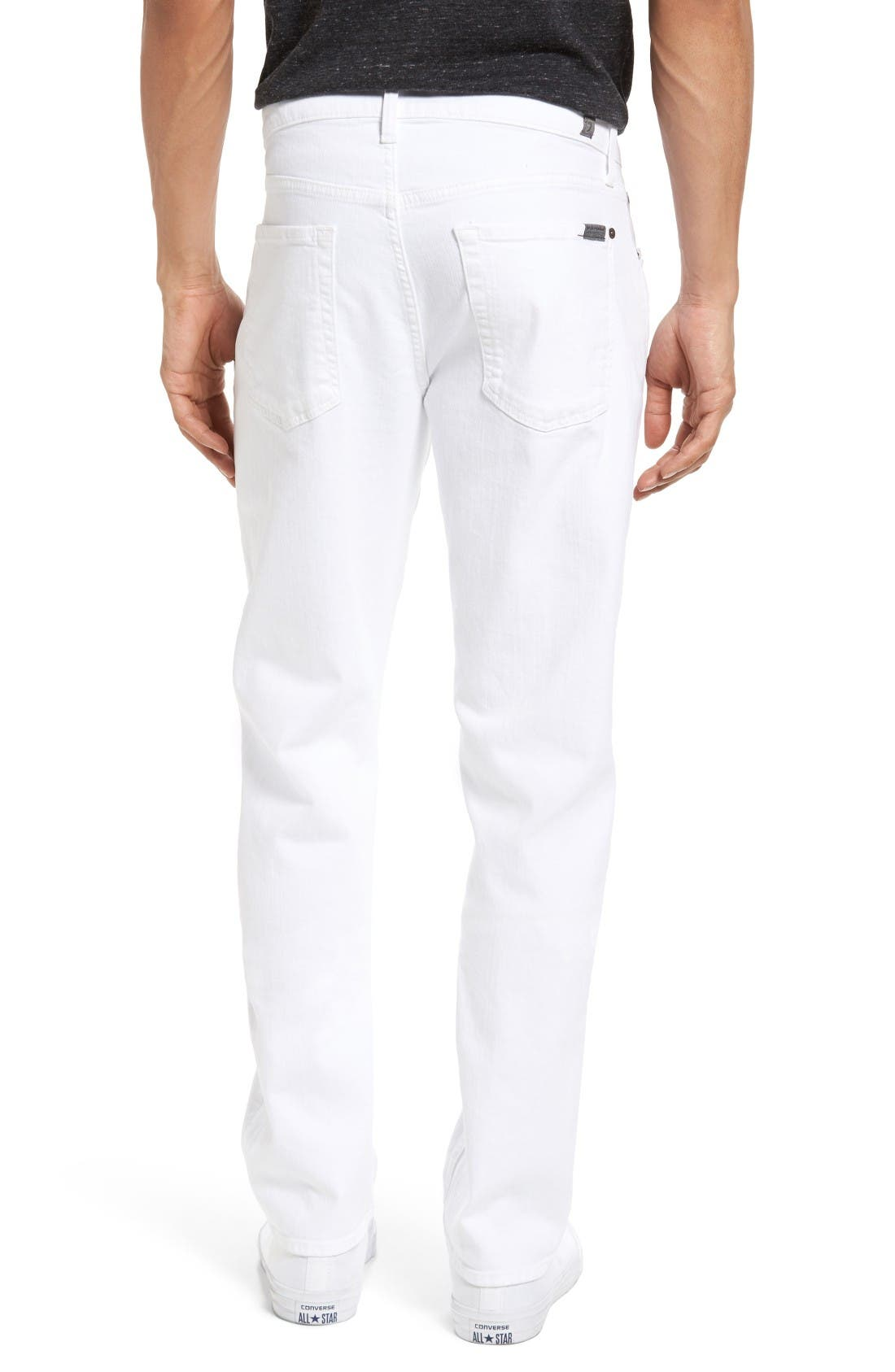 Luxe Performance - Slimmy Slim Fit Jeans,                             Alternate thumbnail 2, color,                             White
