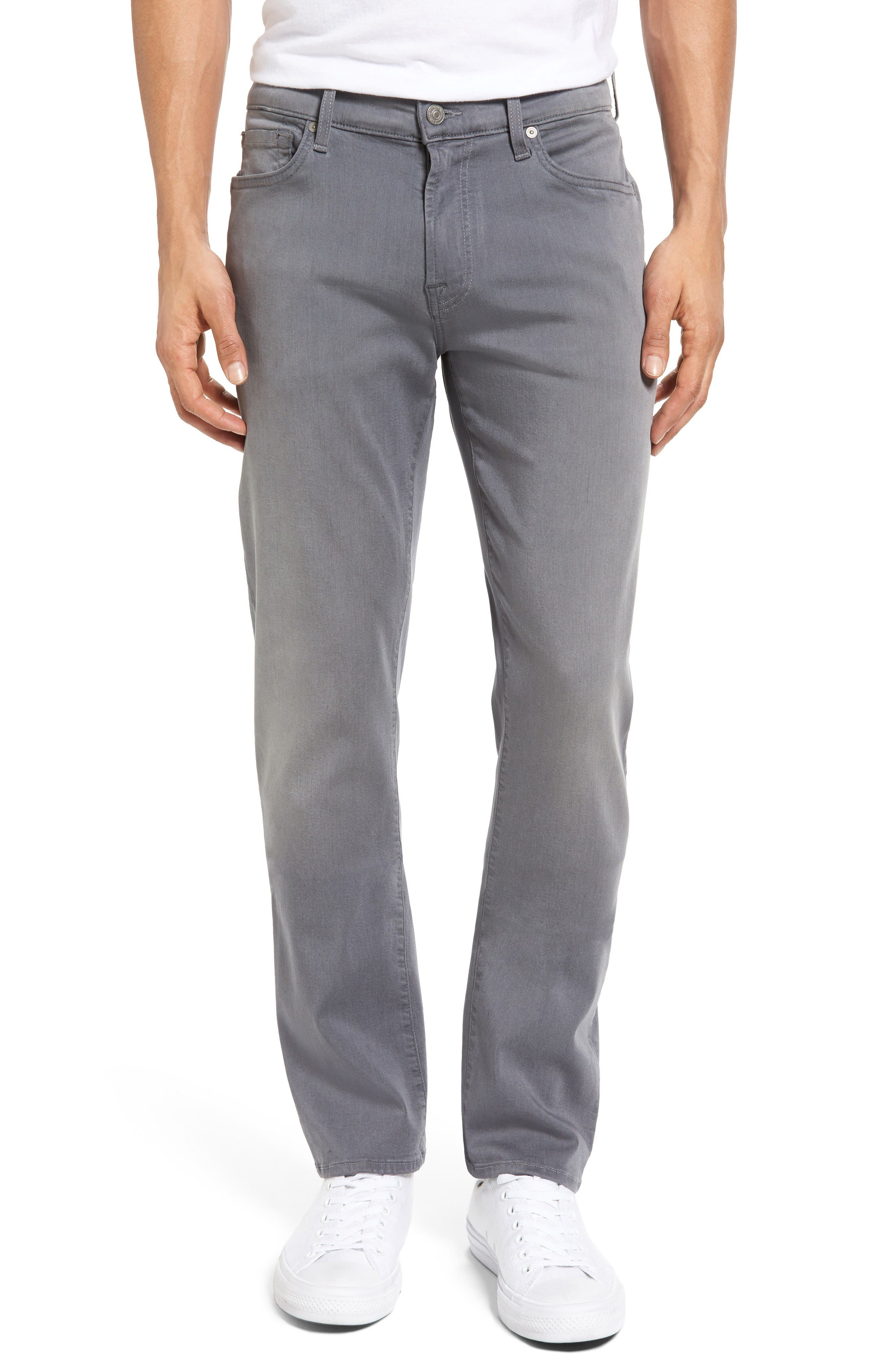 7 For All Mankind® Slimmy Luxe Sport Slim Fit Jeans (Aspen Grey)