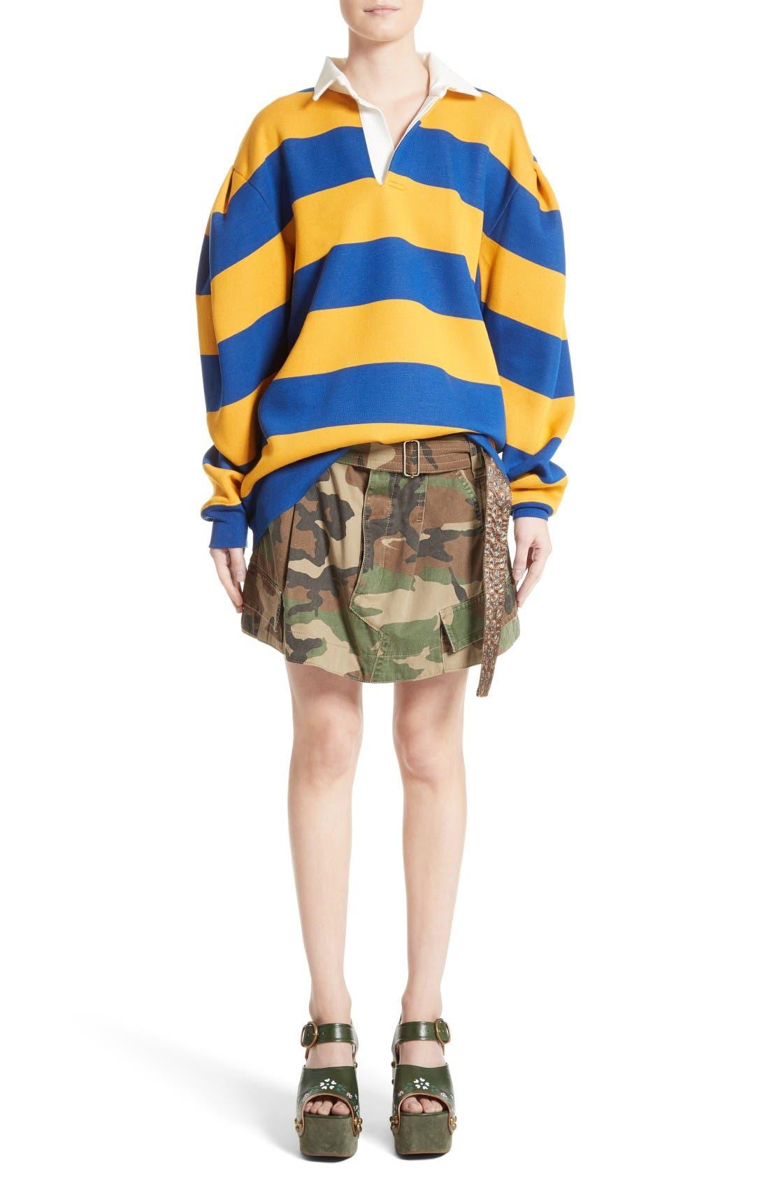 Alternate Image 7  - MARC JACOBS Camo Print Cargo Miniskirt