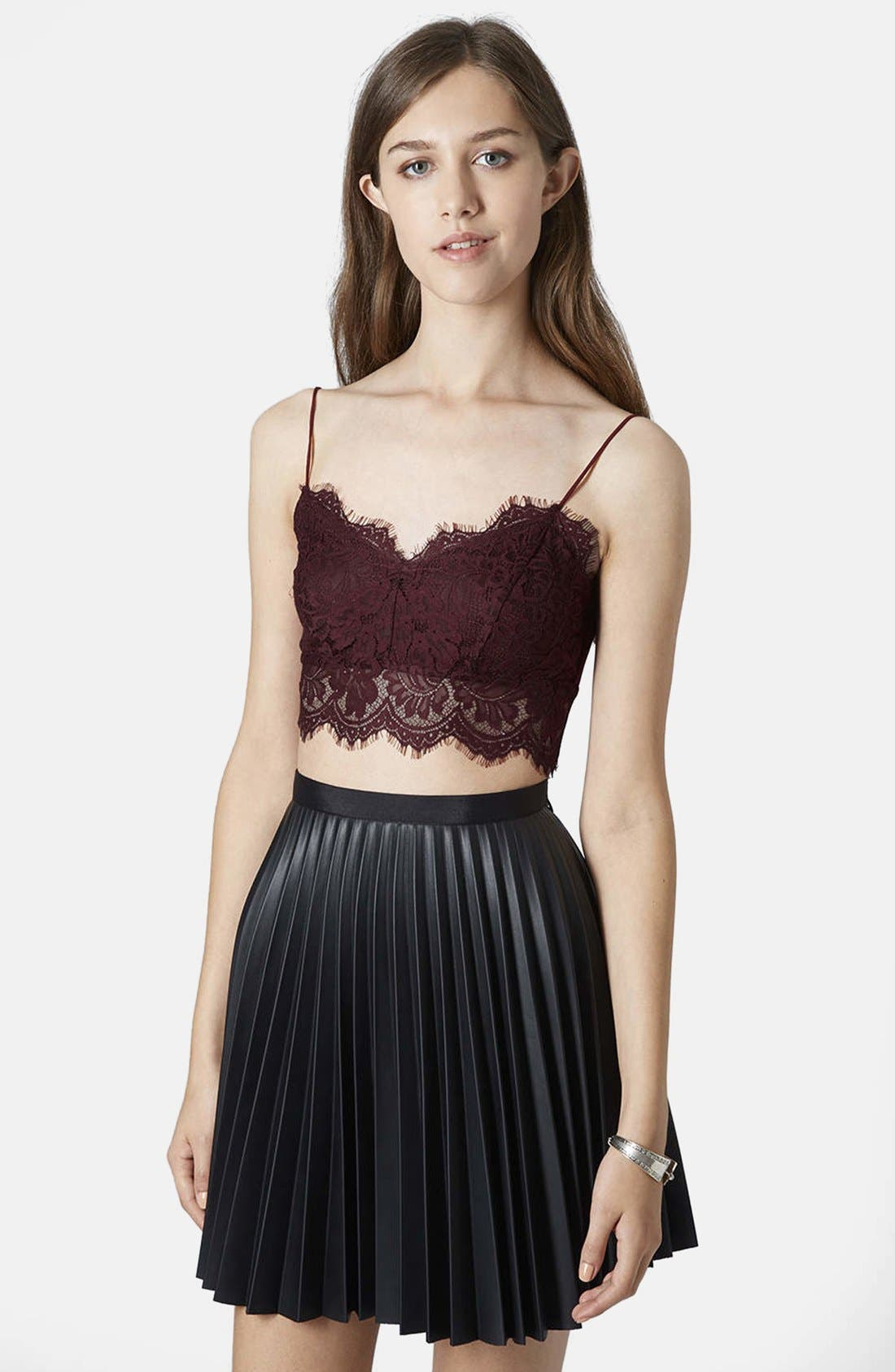 Alternate Image 1 Selected - Topshop Scalloped Lace Bralette (Petite)