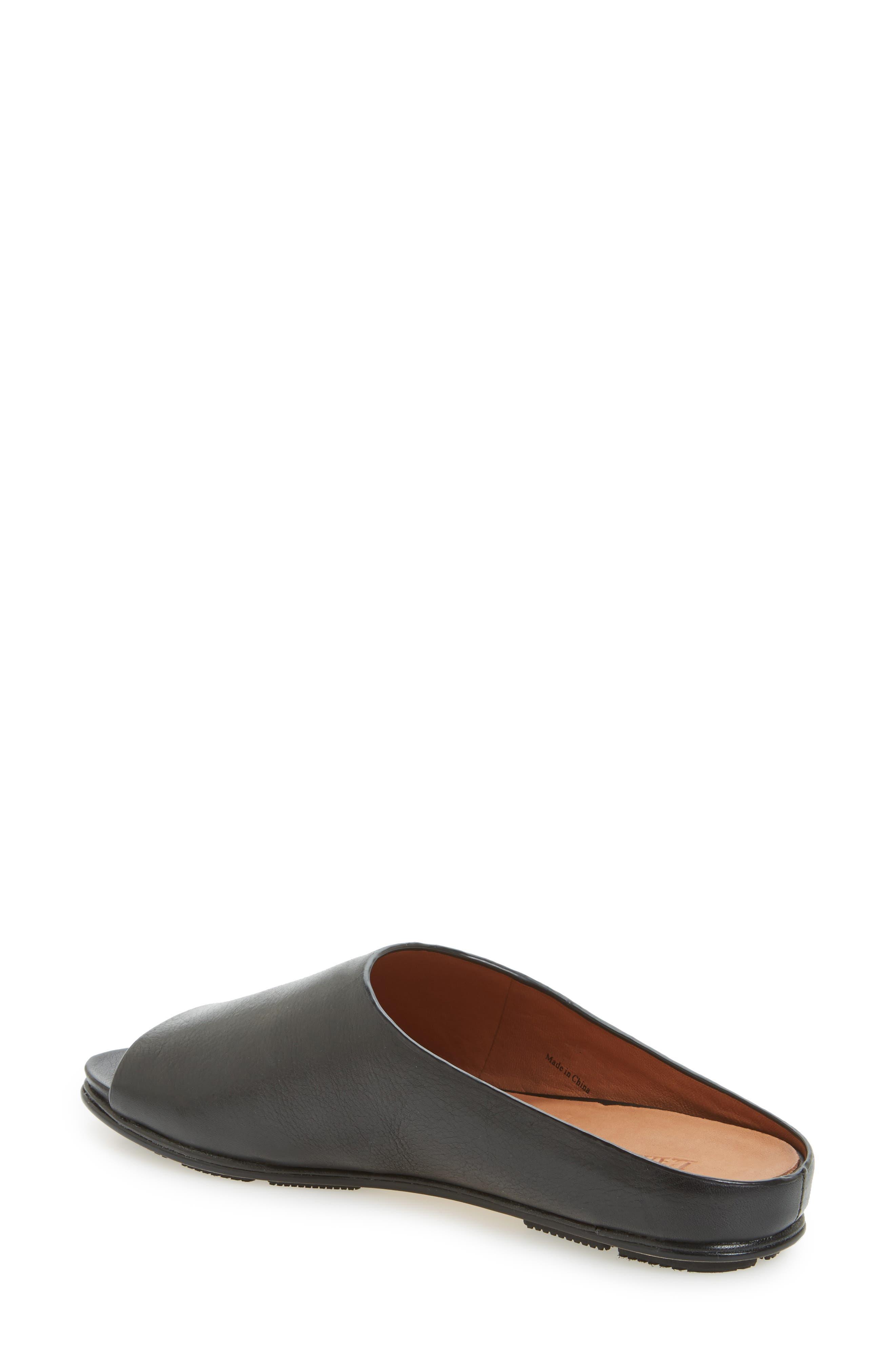 Dijone Mule,                             Alternate thumbnail 2, color,                             Black Leather