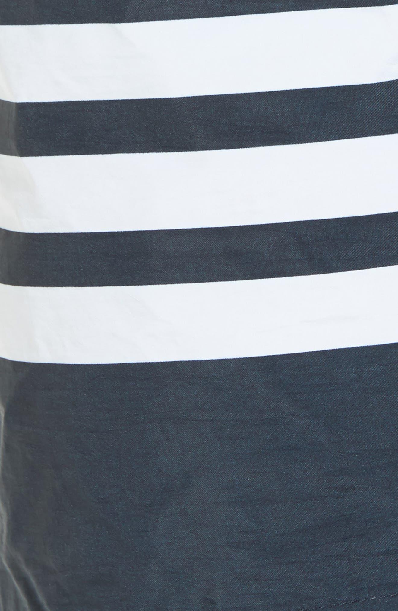 Alternate Image 5  - Thom Browne 4-Bar Print Tech Board Shorts