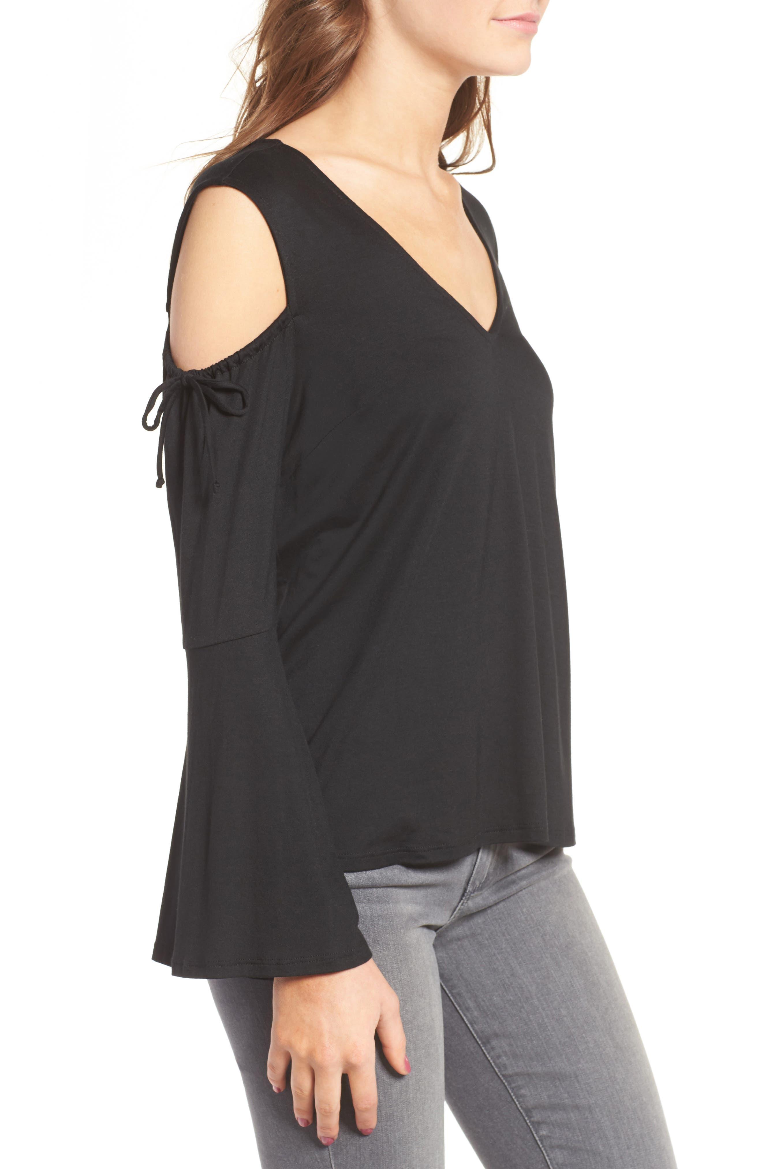 Alternate Image 3  - Ella Moss Bella Bell Sleeve Cold Shoulder Top