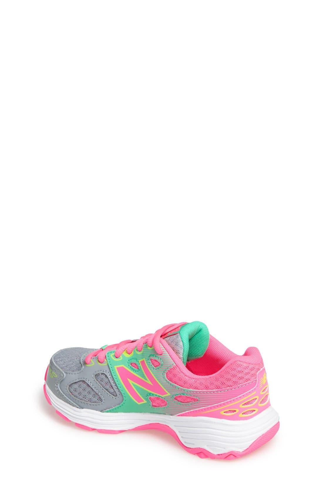 680v3 Sneaker,                             Alternate thumbnail 2, color,                             Grey/Pink