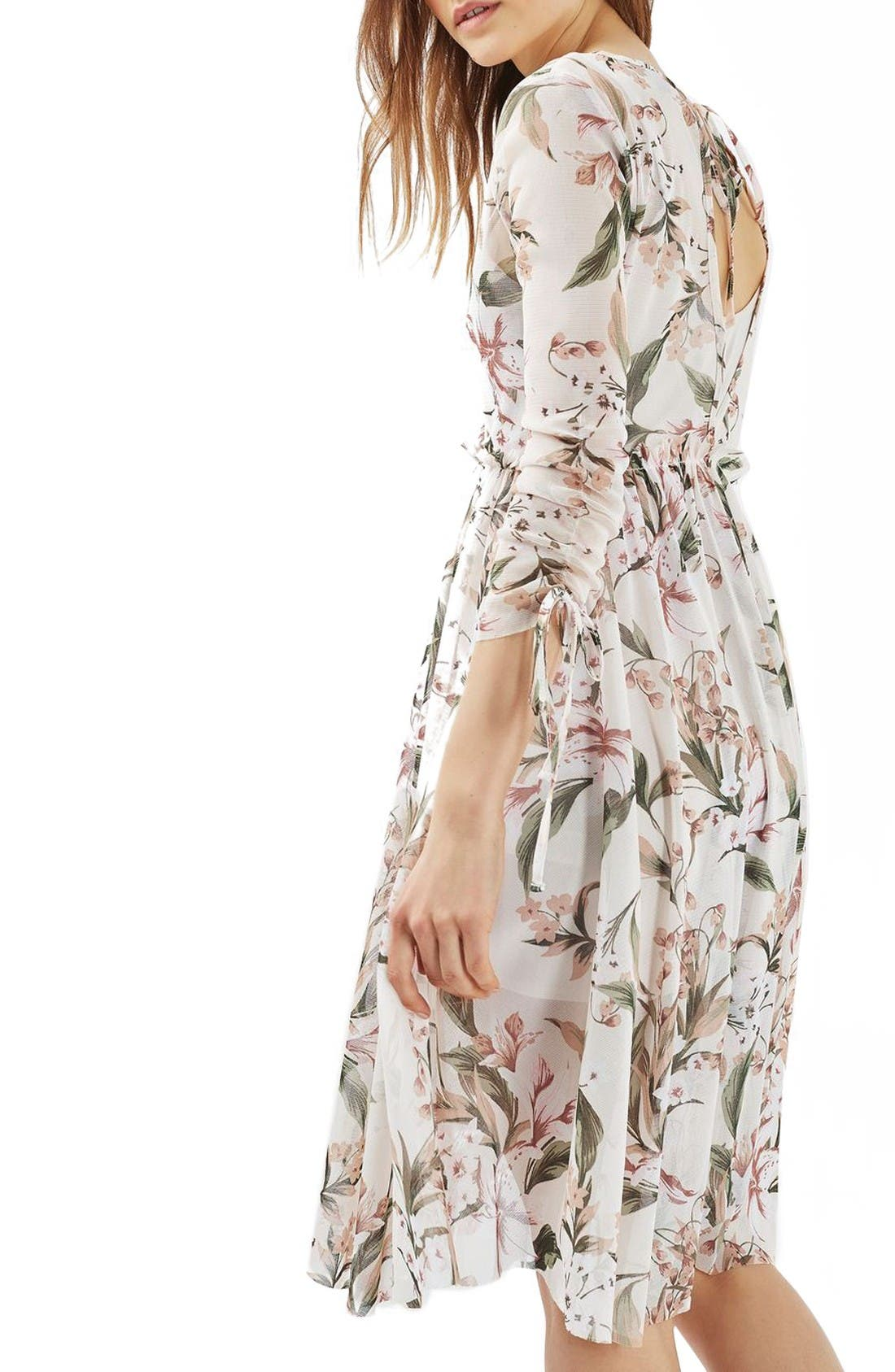 Alternate Image 3  - Topshop Lily Floral Mesh Dress