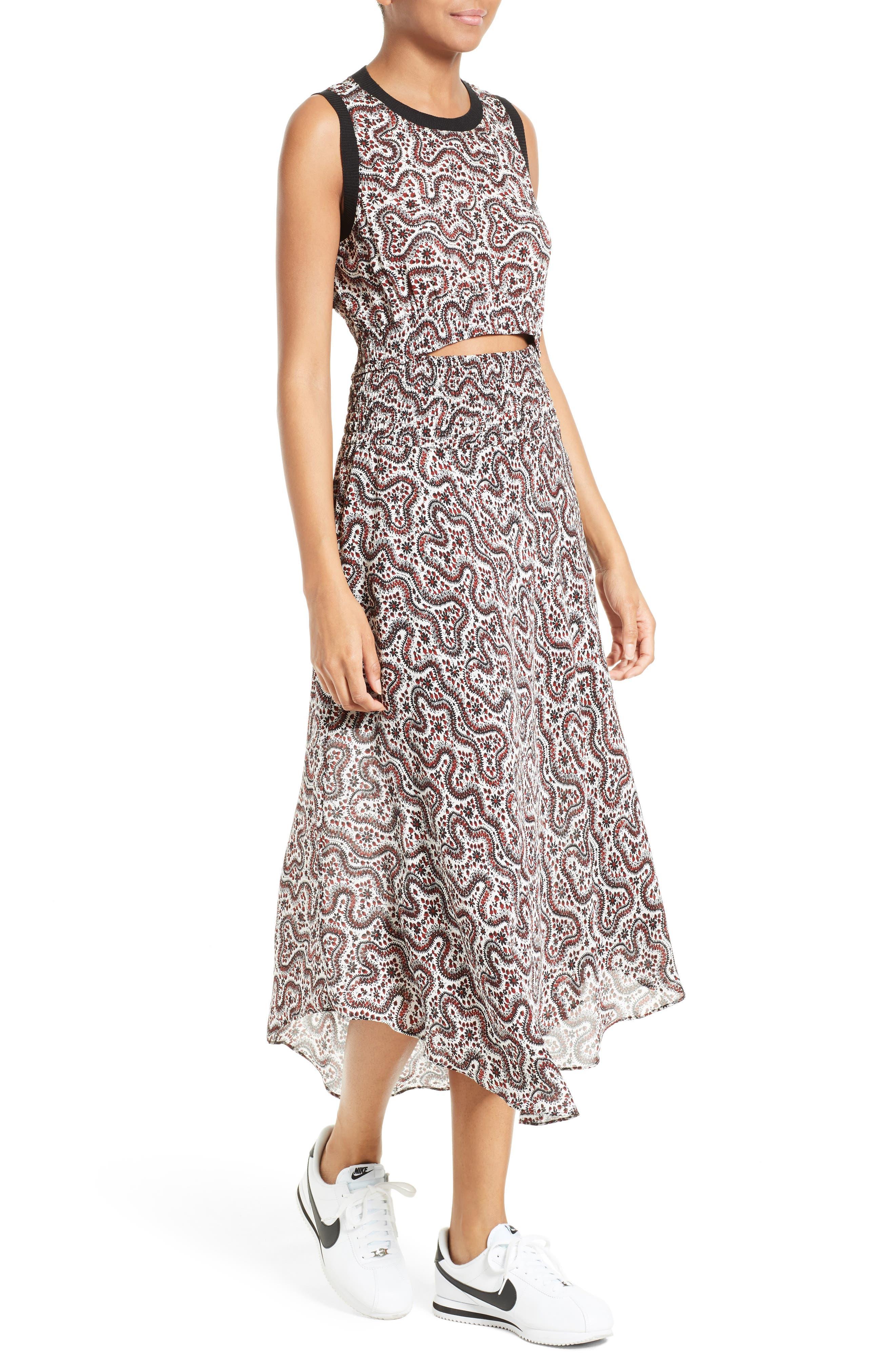 Alternate Image 5  - A.L.C. Sandra Cutout Silk Midi Dress