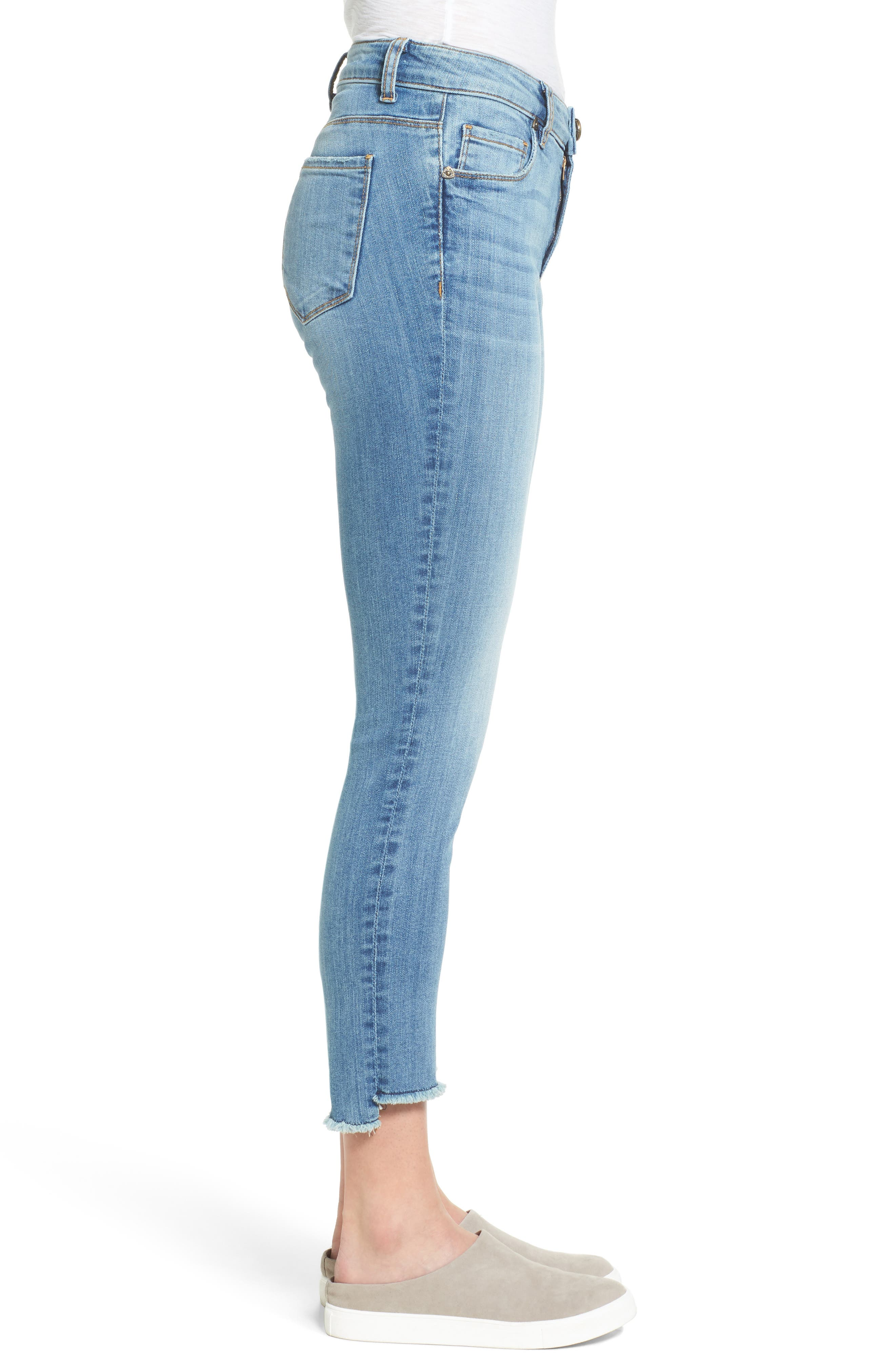 Alternate Image 3  - KUT from the Kloth Reese Frayed Straight Leg Ankle Jeans (Participation)