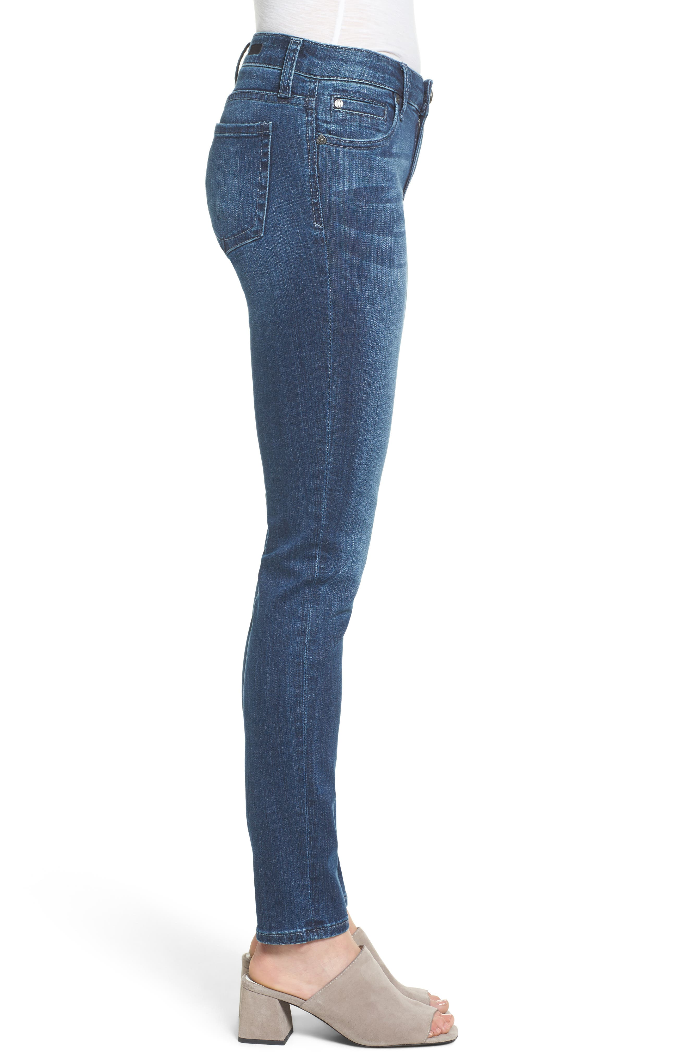 Alternate Image 3  - KUT from the Kloth Diana Stretch Skinny Jeans (Moderation) (Regular & Petite)