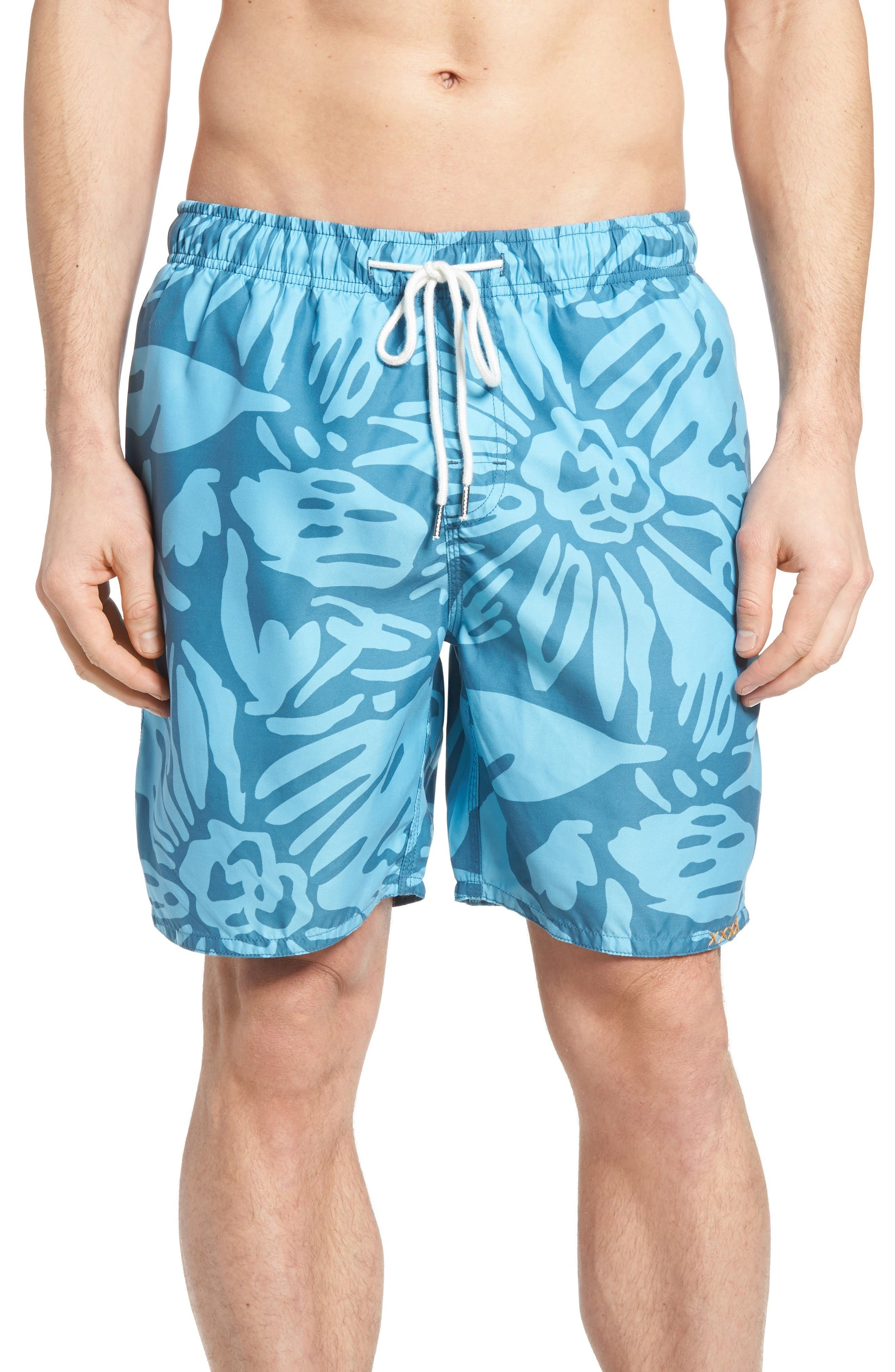 Viceroy Print Swim Trunks,                         Main,                         color, Blue