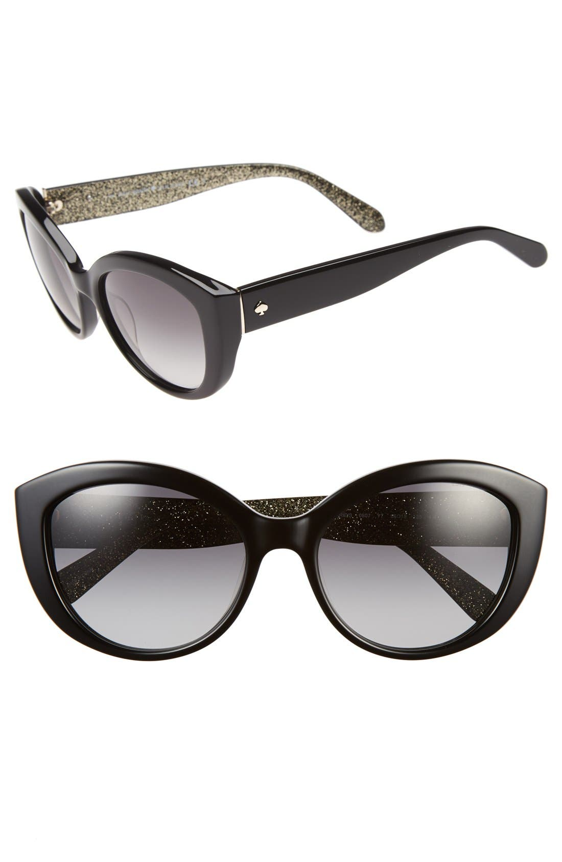 Alternate Image 1 Selected - kate spade new york 'sherrie' 55mm cat eye sunglasses