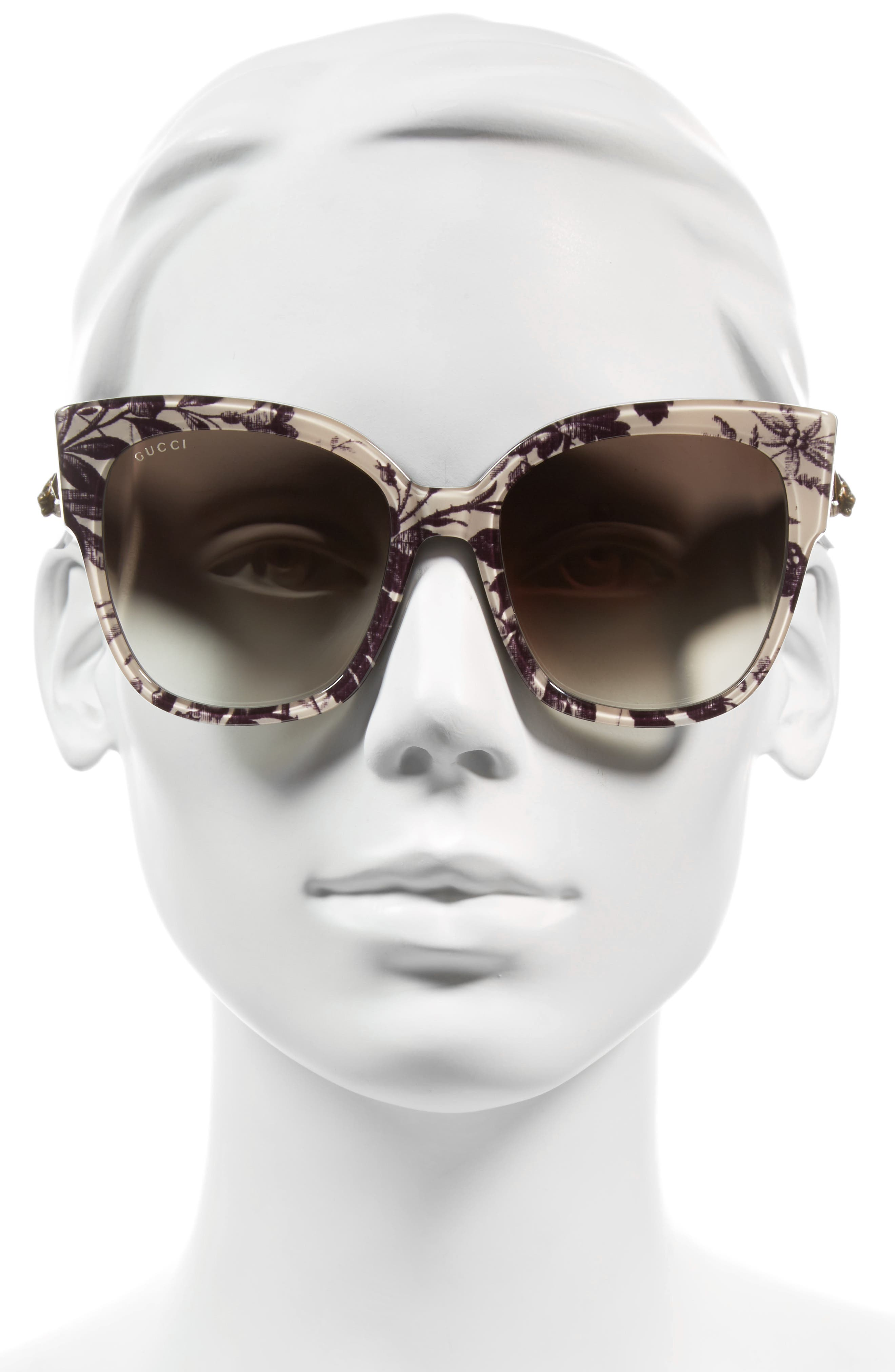 Alternate Image 2  - Gucci 55mm Butterfly Sunglasses