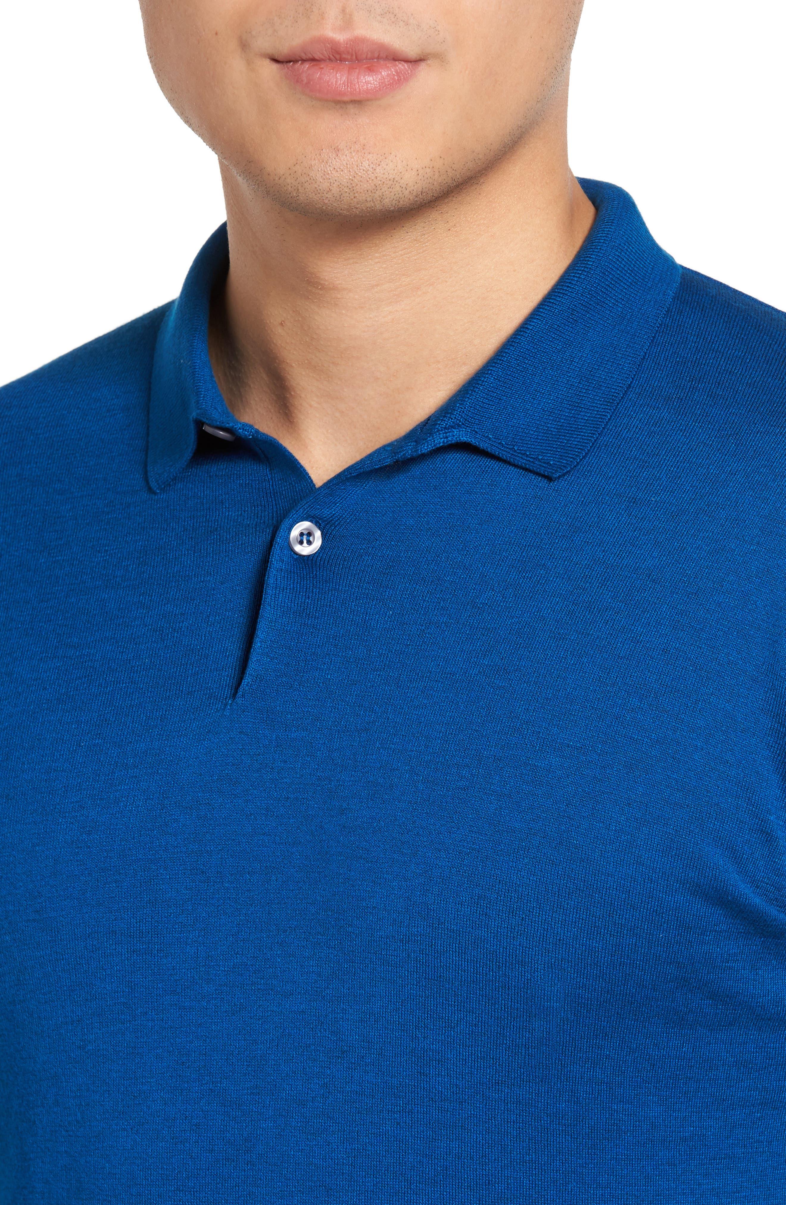 Seal Island Cotton Polo,                             Alternate thumbnail 4, color,                             Stevens Blue