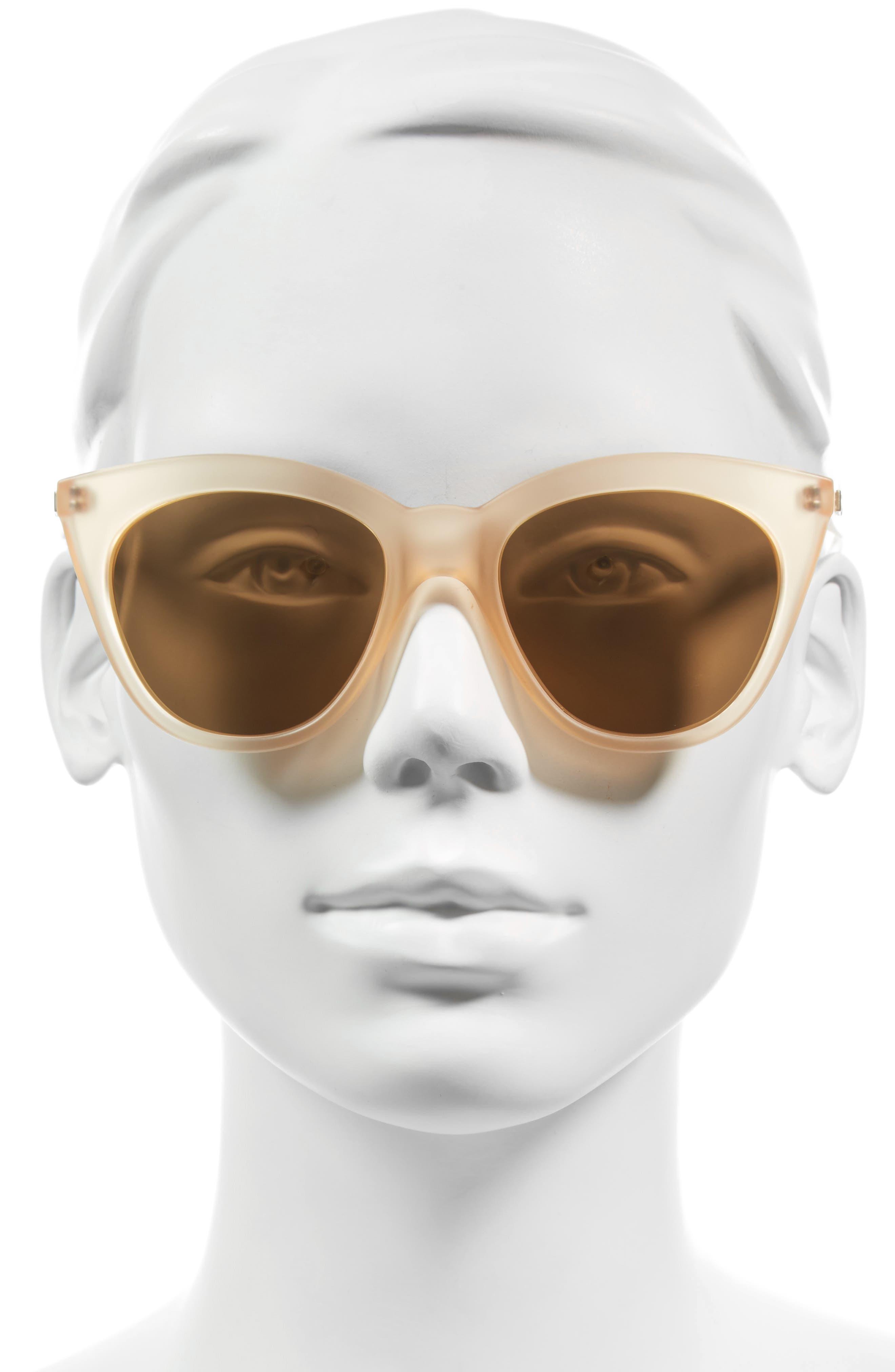 Alternate Image 3  - Le Specs Halfmoon Magic 51mm Cat Eye Sunglasses