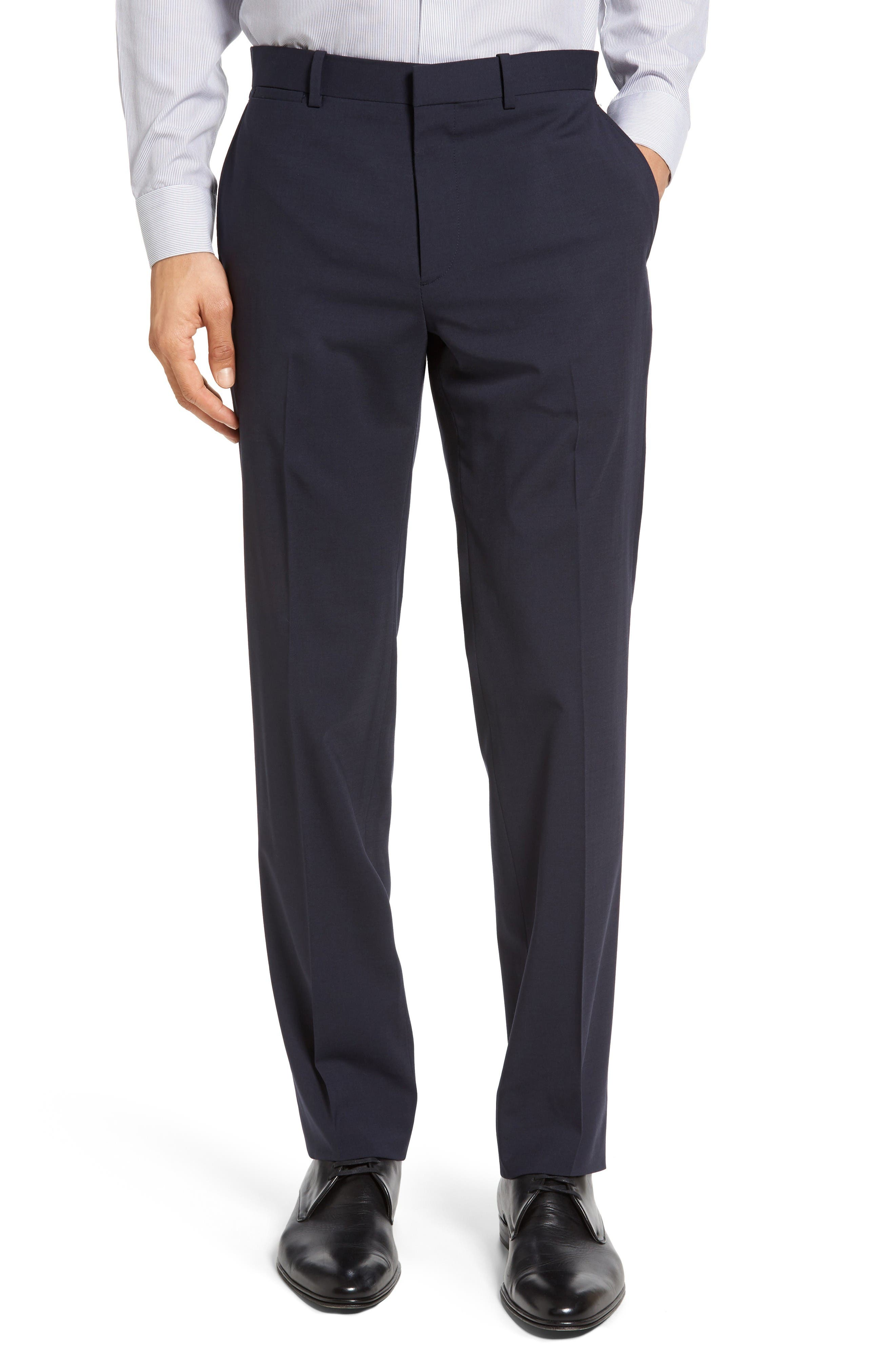 Main Image - Theory Marlo New Tailor 2 Flat Front Solid Stretch Wool Trousers